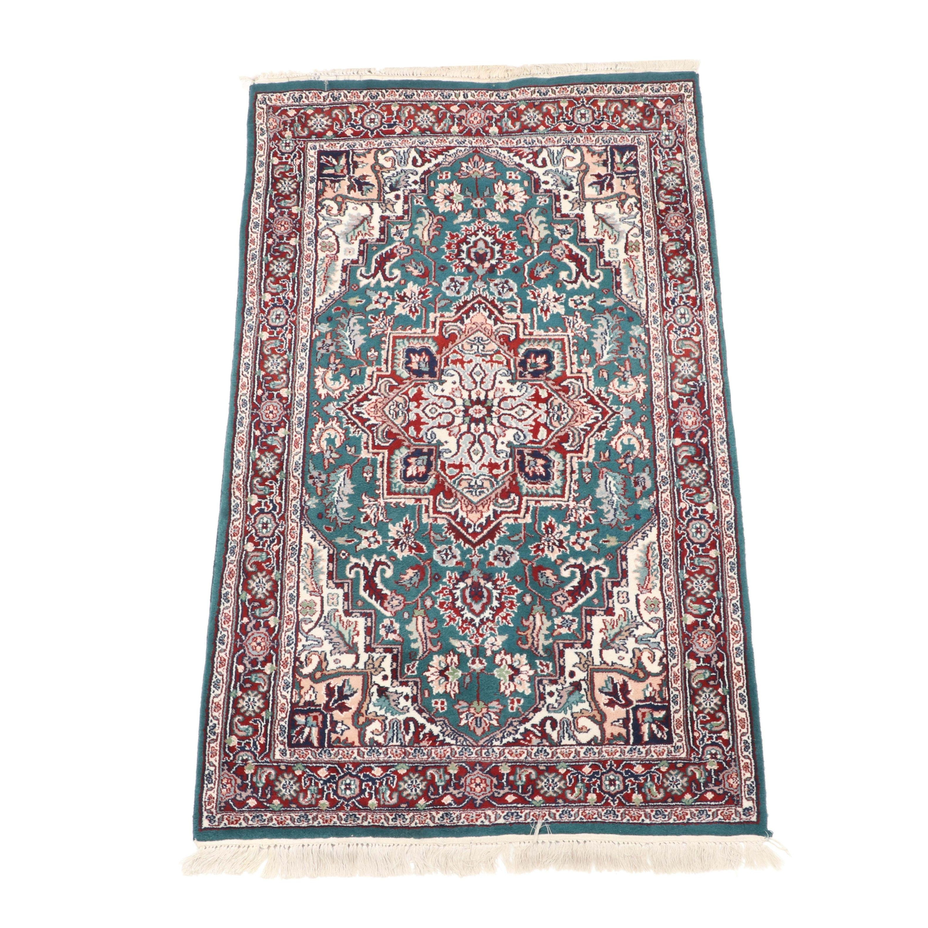 Finely Hand-Knotted Indo-Persian Heriz Area Rug from Aria's Rugs