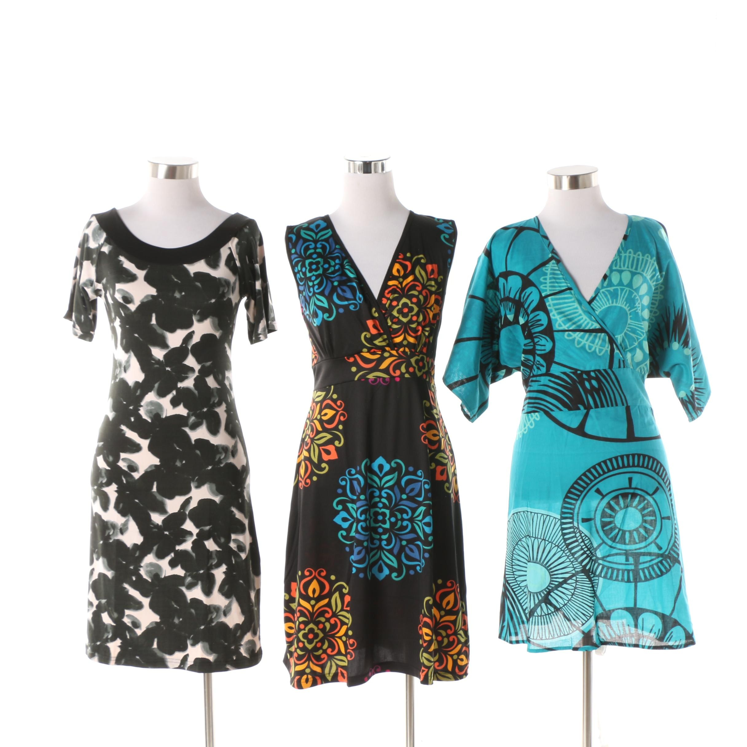 Aller Simplement Medallion, Mandala and Abstract Tunics