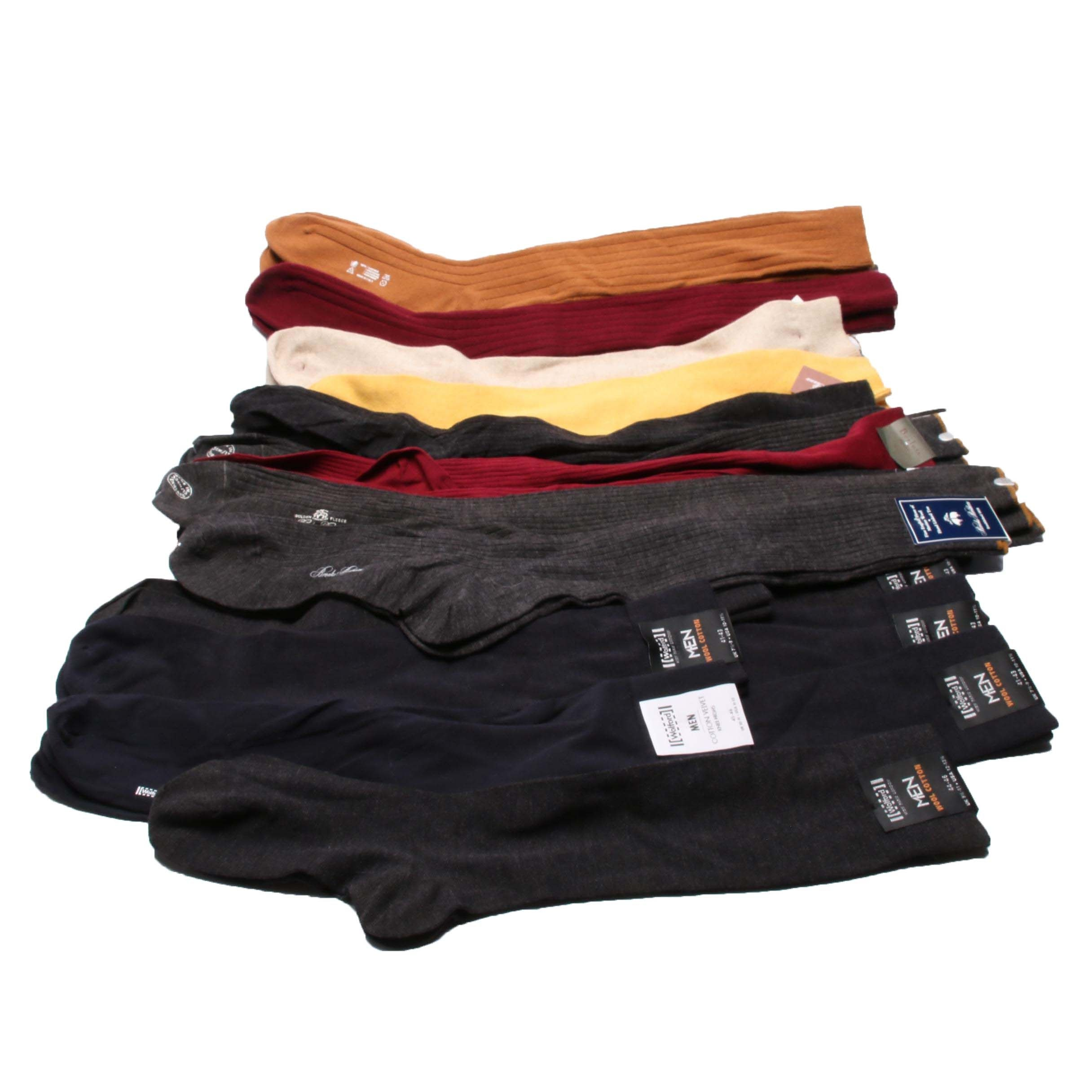 Men's Dress and Casual Designer Socks including Brooks Brothers and More