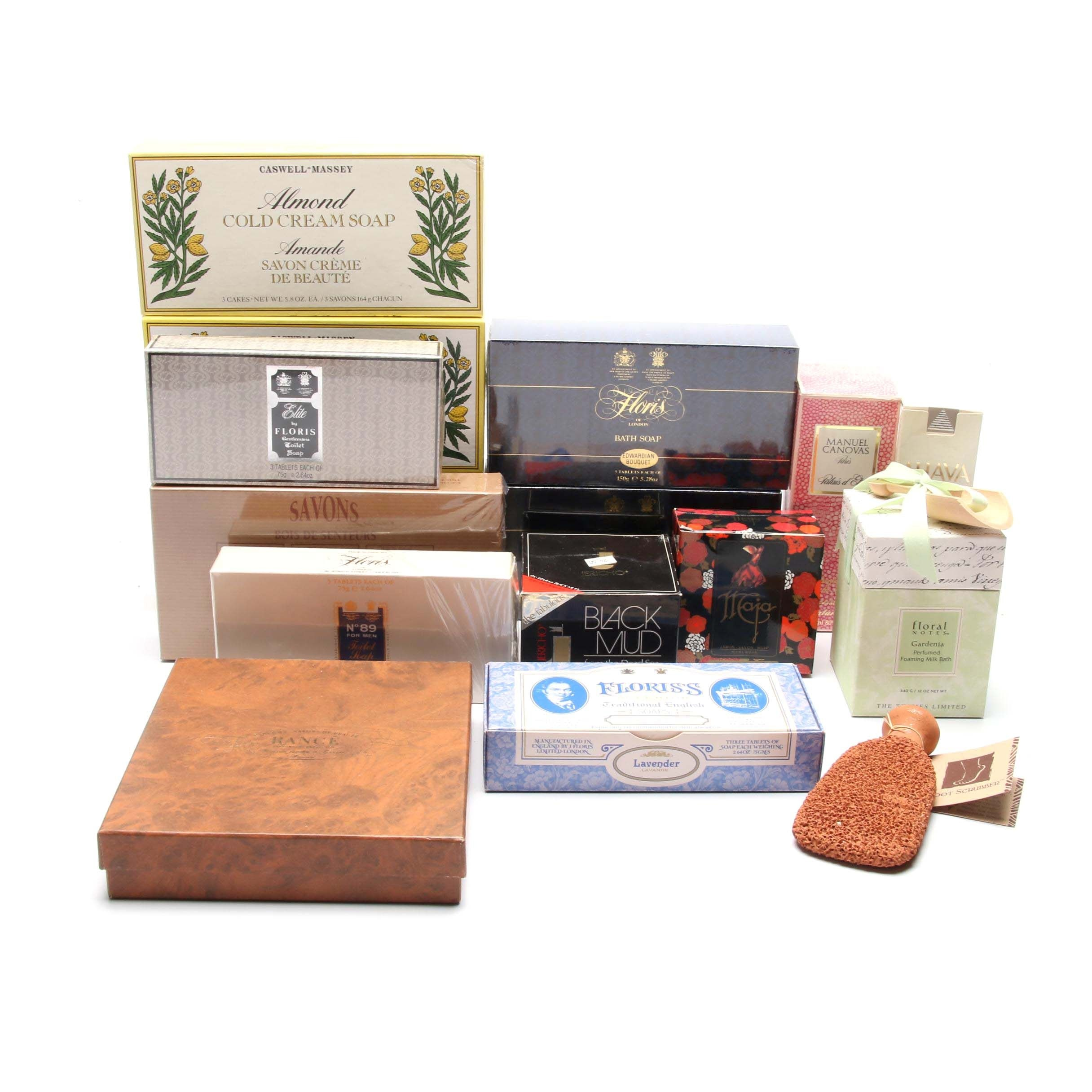 L'Occitane Wood Soaps, Floris's Soaps and Other Toiletries