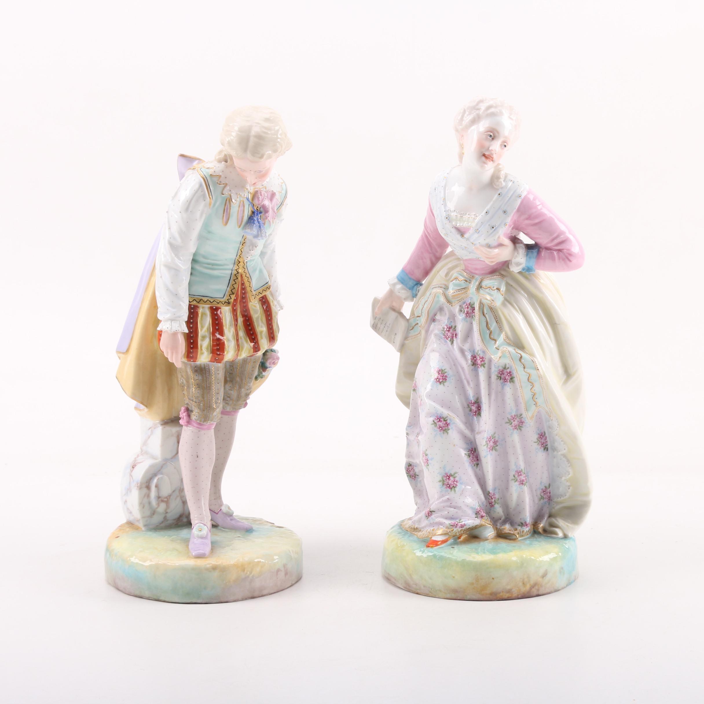German Porcelain Figural Set