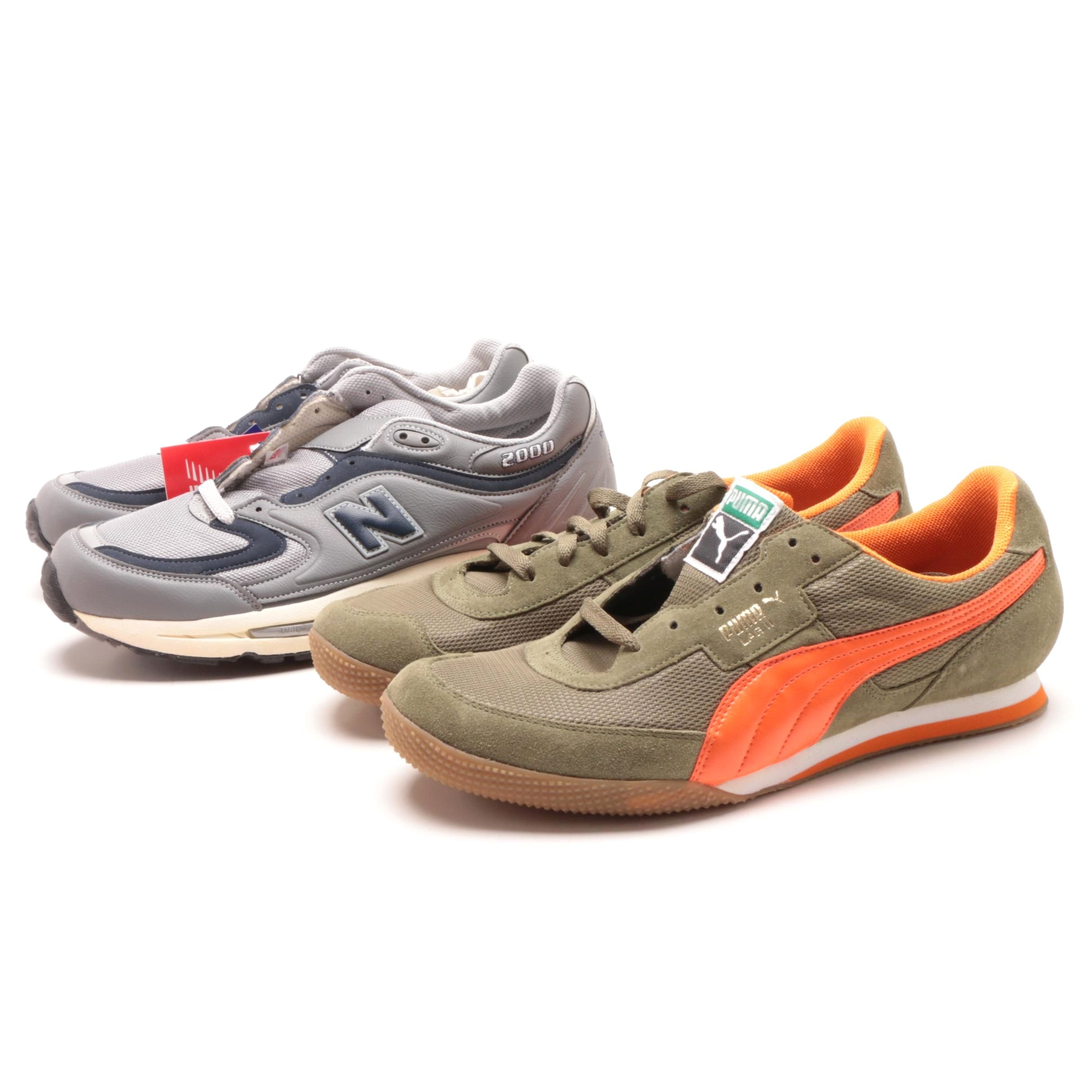 Men's Sneakers Including New Balance and Puma