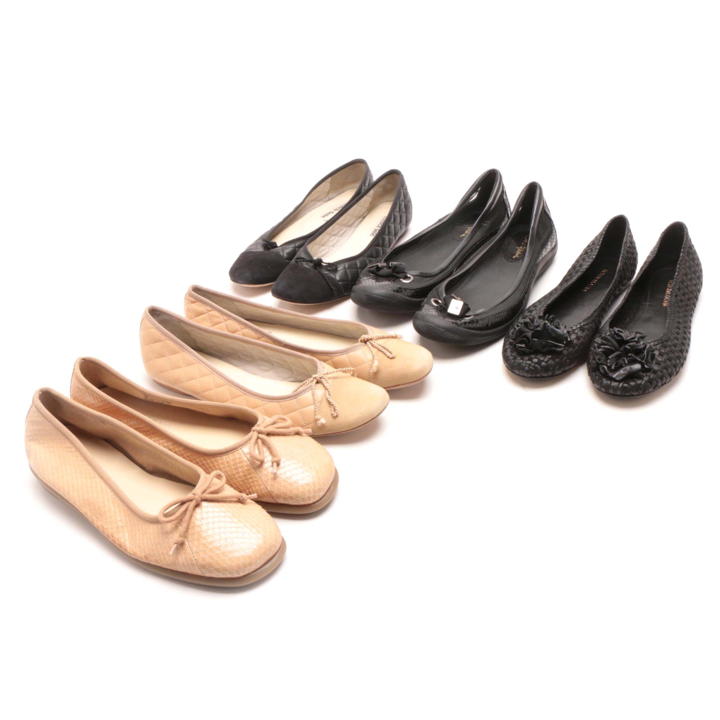 BCBG, Aerosoles, French Sole and Cole Haan Flat Shoes