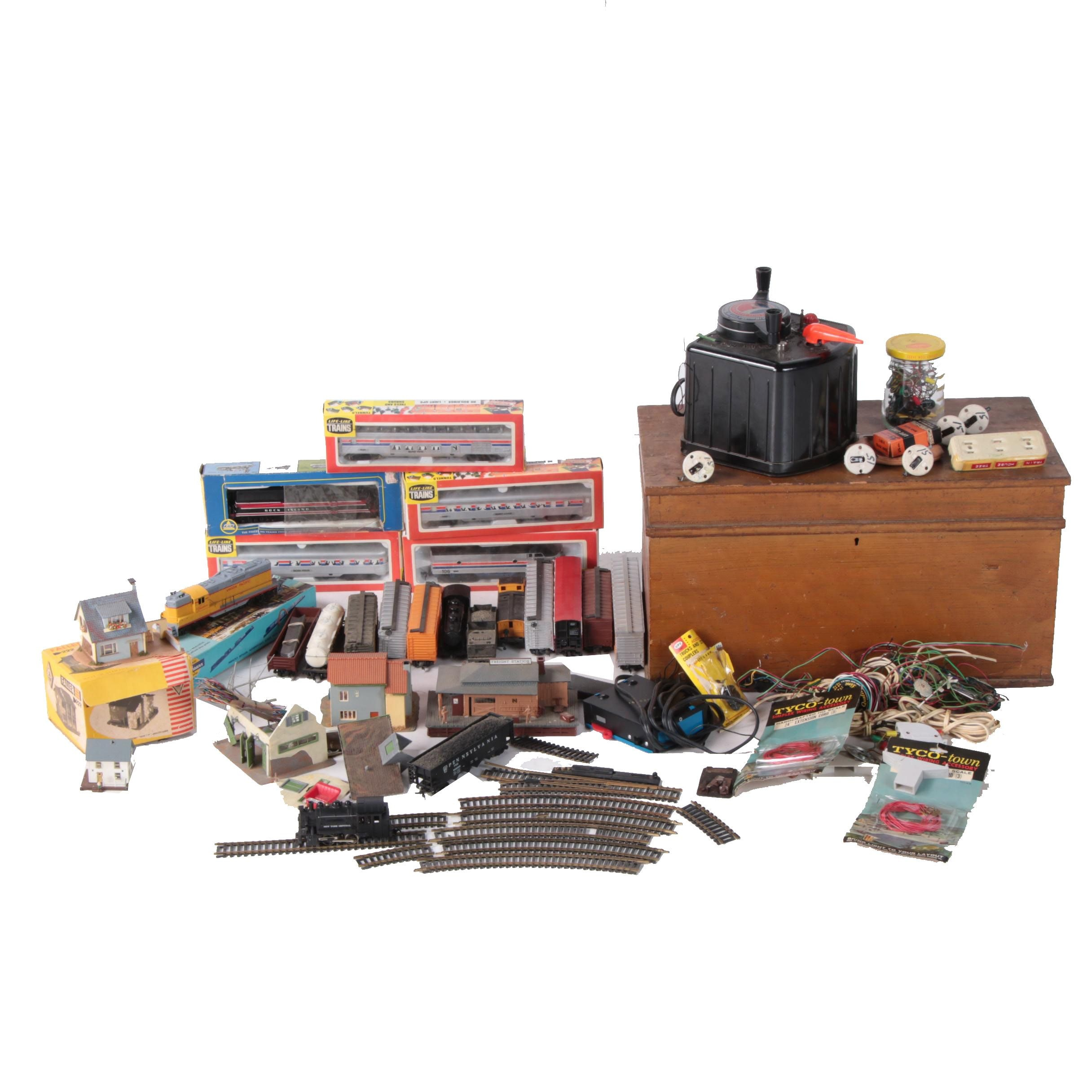 Miniature Scale Train Cars with Accessories including AHM and More