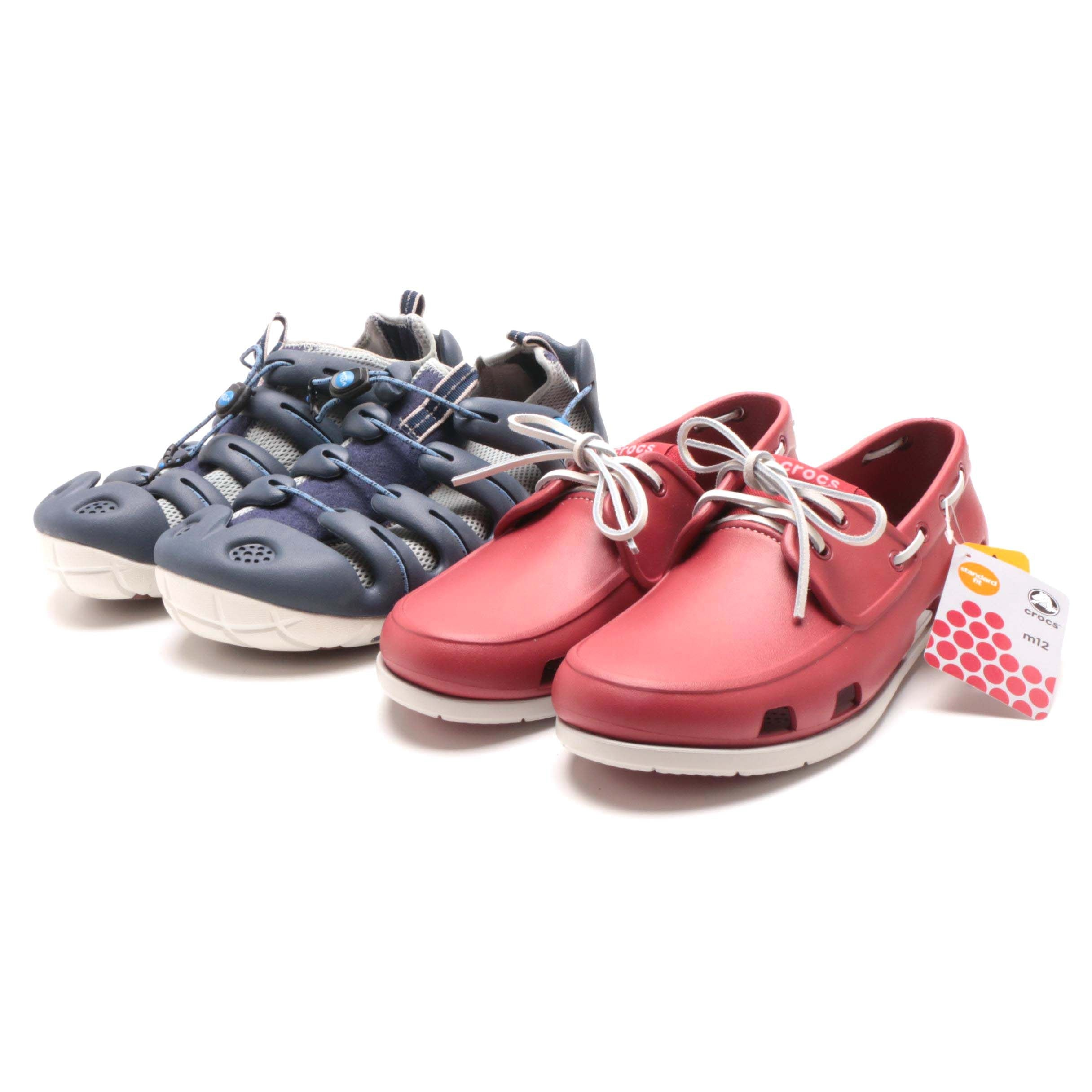 Crocs Beach Line Boat Shoe and Mion Shoes