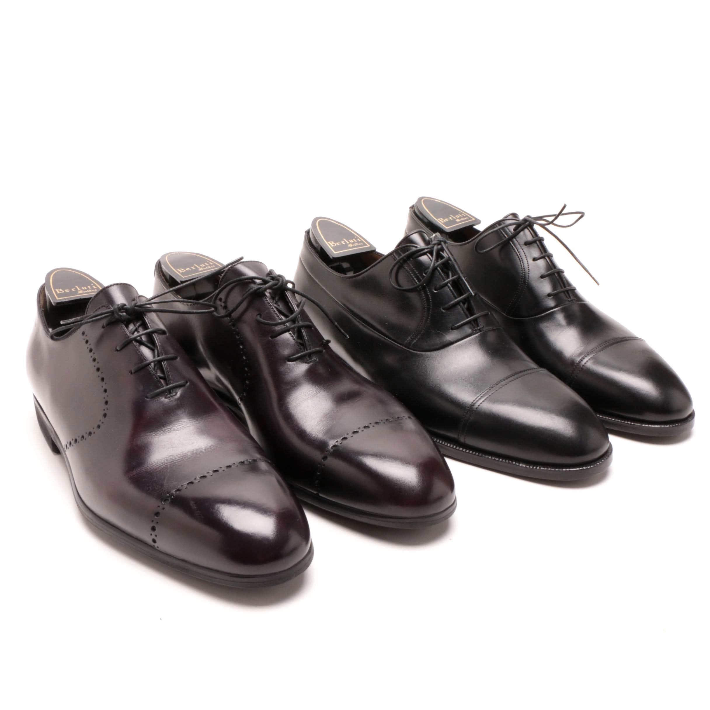 Men's Berluti Leather Dress Shoes