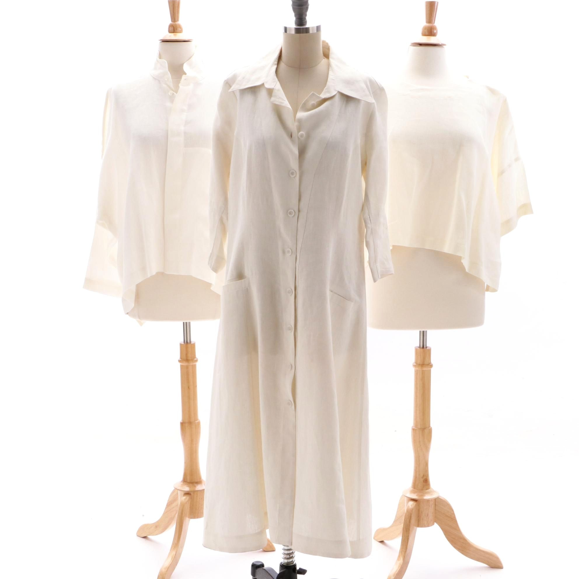 Elm Design Linen Dress and Eskandar Shirts