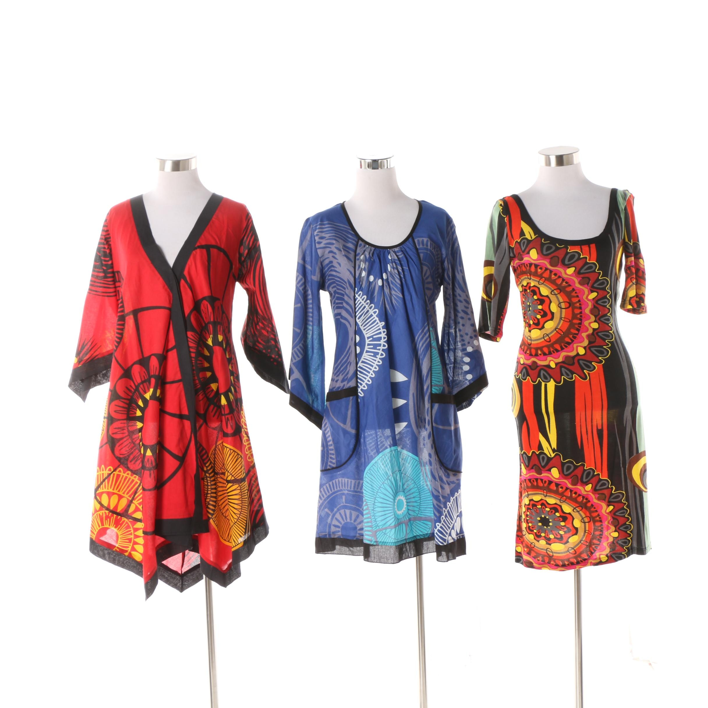 Aller Simplement Mandala Print Tunics and Abstract Print Bodycon Dress