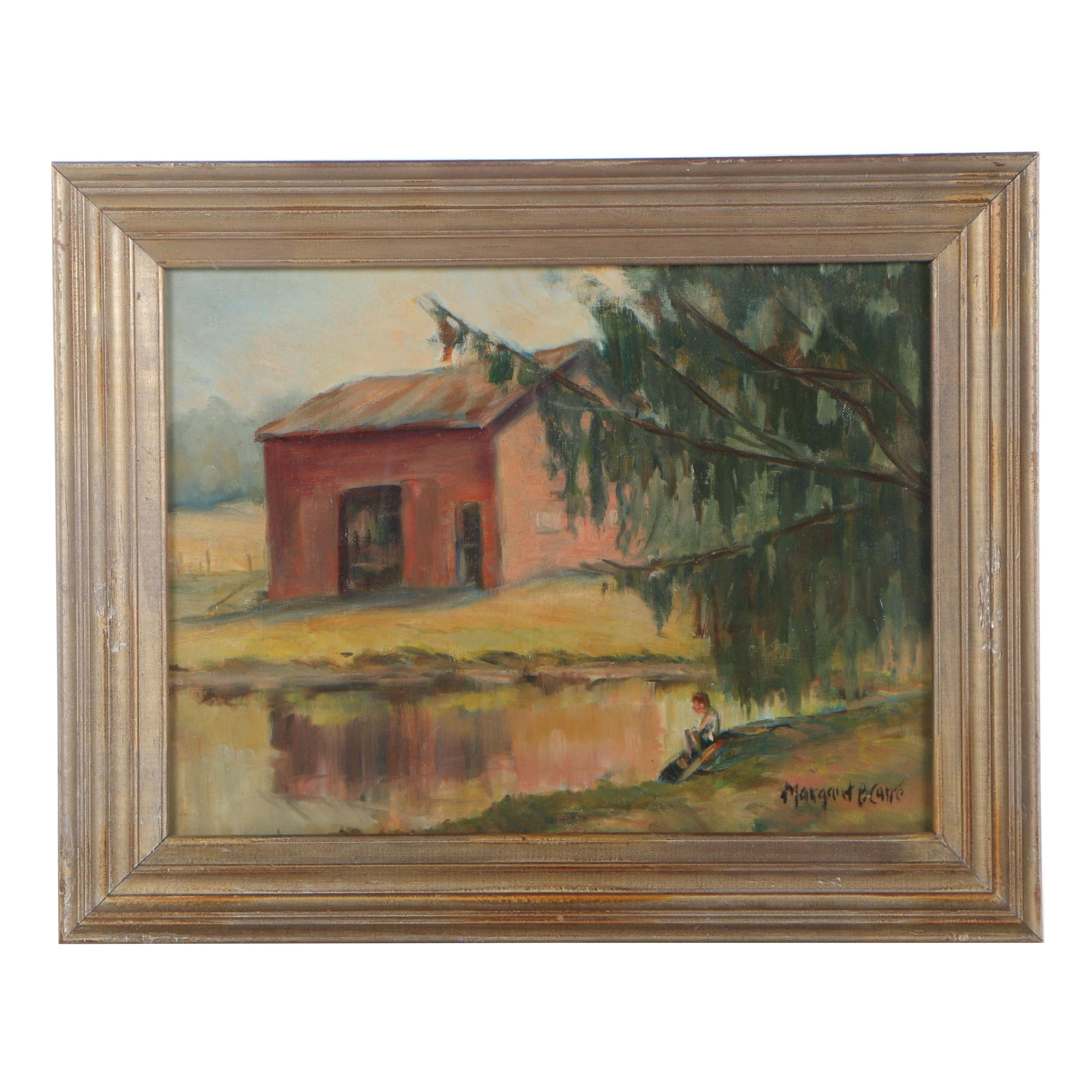 Margaret B. Carre Pastoral Oil Painting