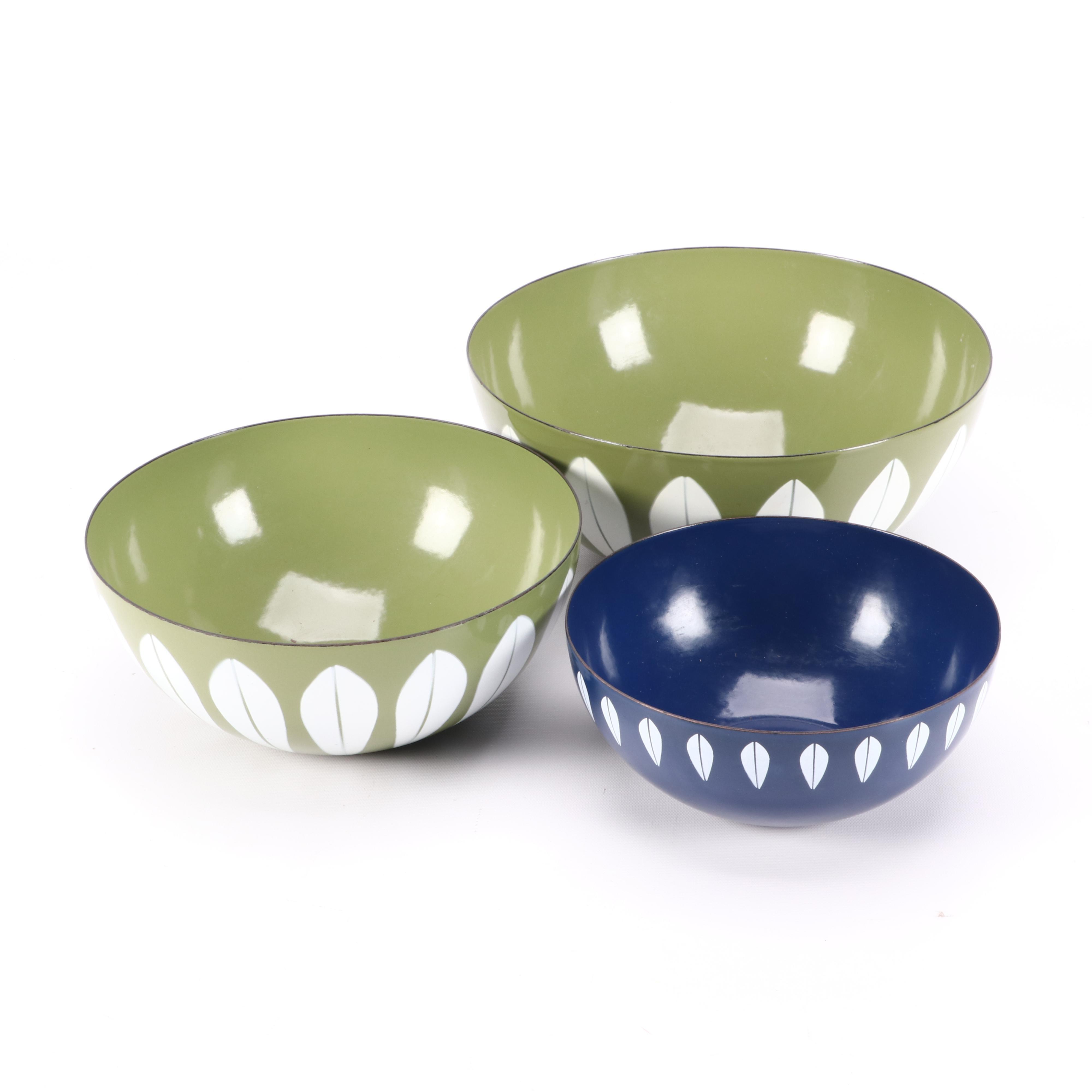 Vintage Cathrineholm Style Enameled Bowls
