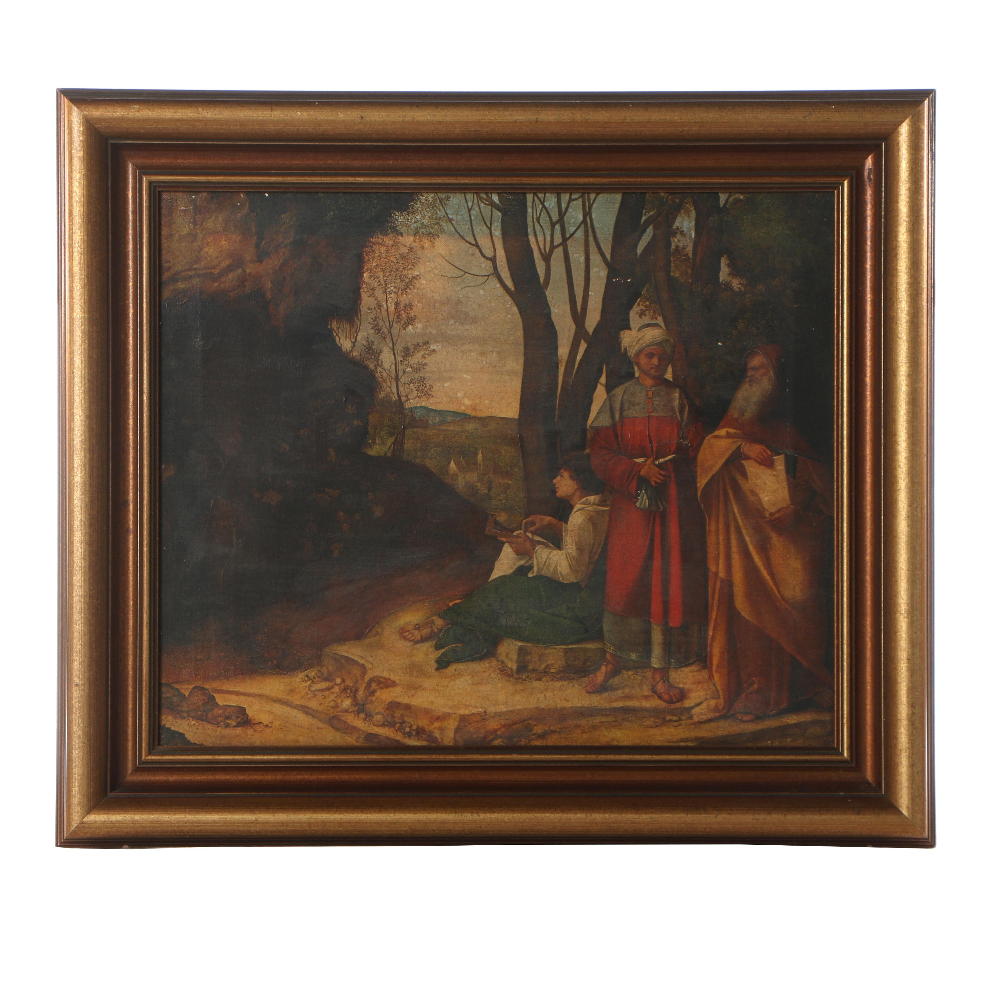 """Giclée after Giorgione """"The Three Philosophers"""""""