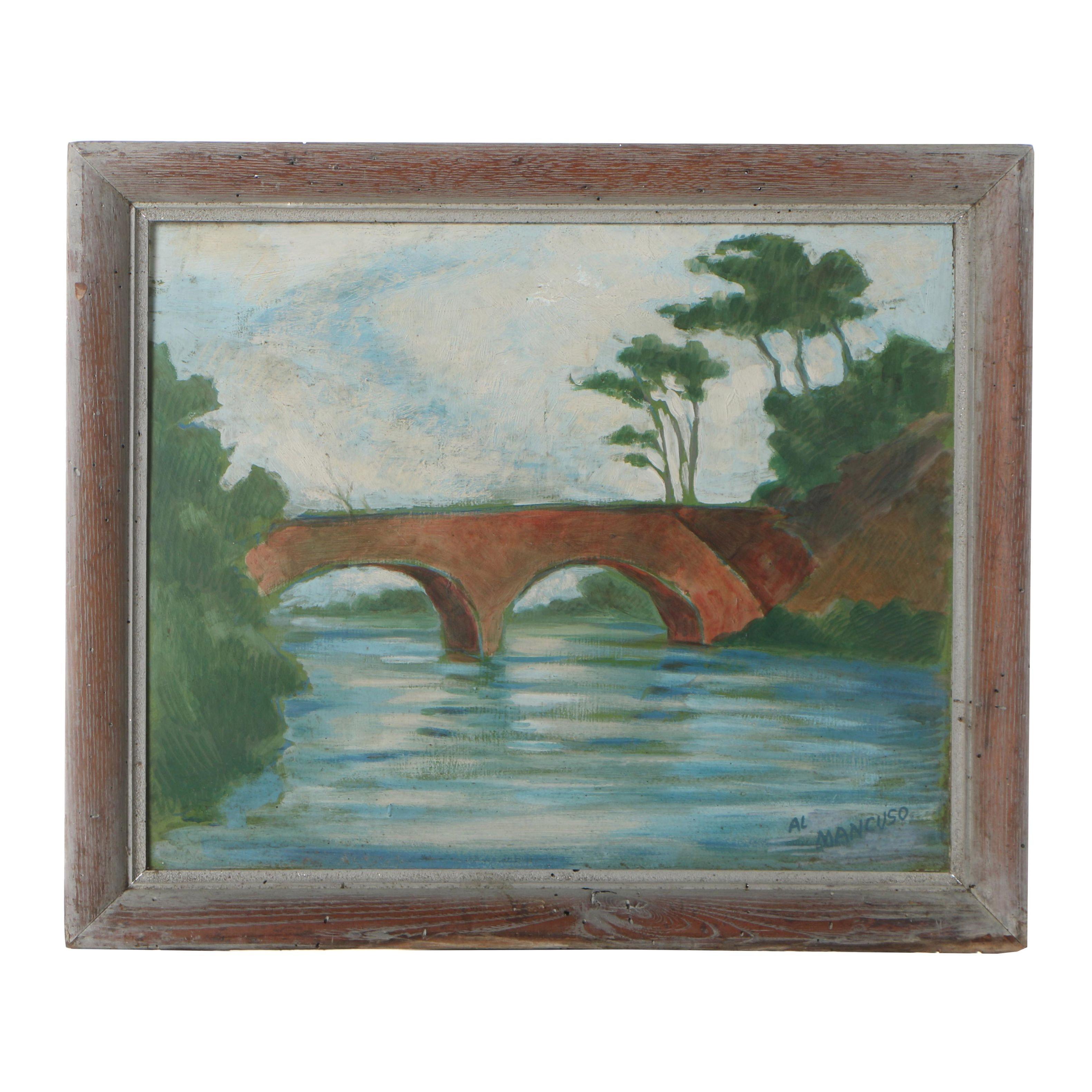 Al Mancuso Scenic Oil Painting