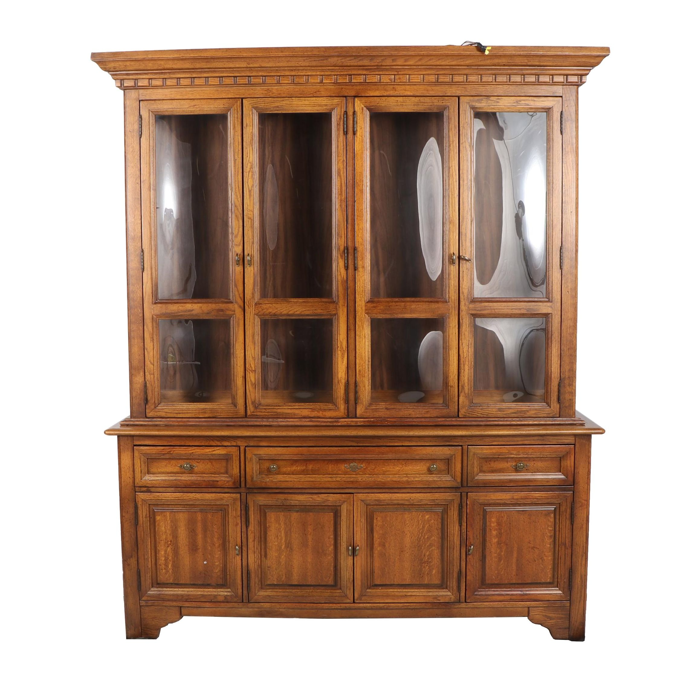Fruitwood China Cabinet by Stanley, Late 20th Century
