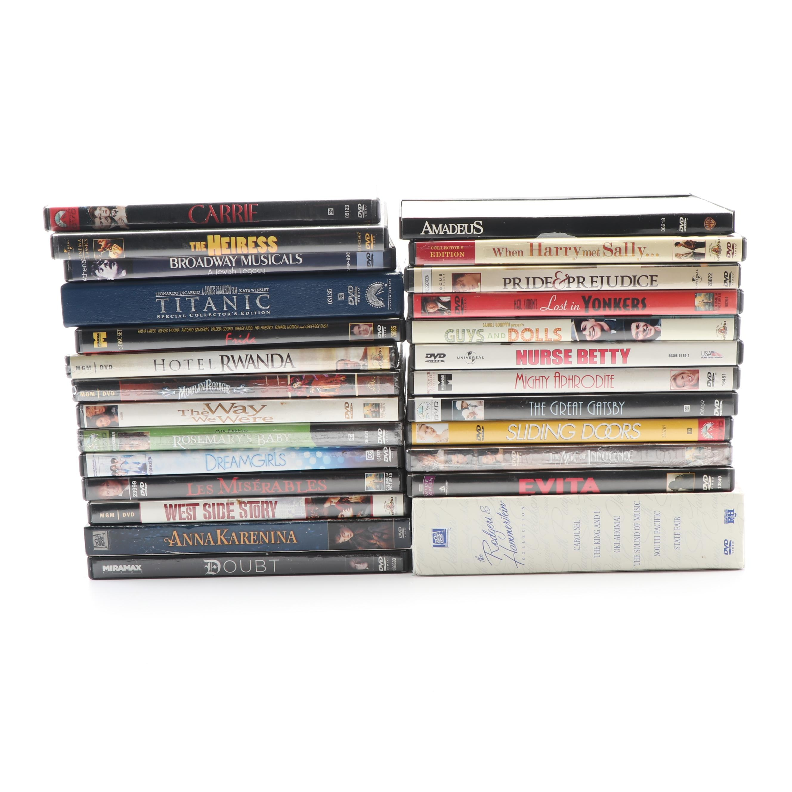 """DVD Collection including """"The Rodgers & Hammerstein Collection"""" and """"Titanic"""""""