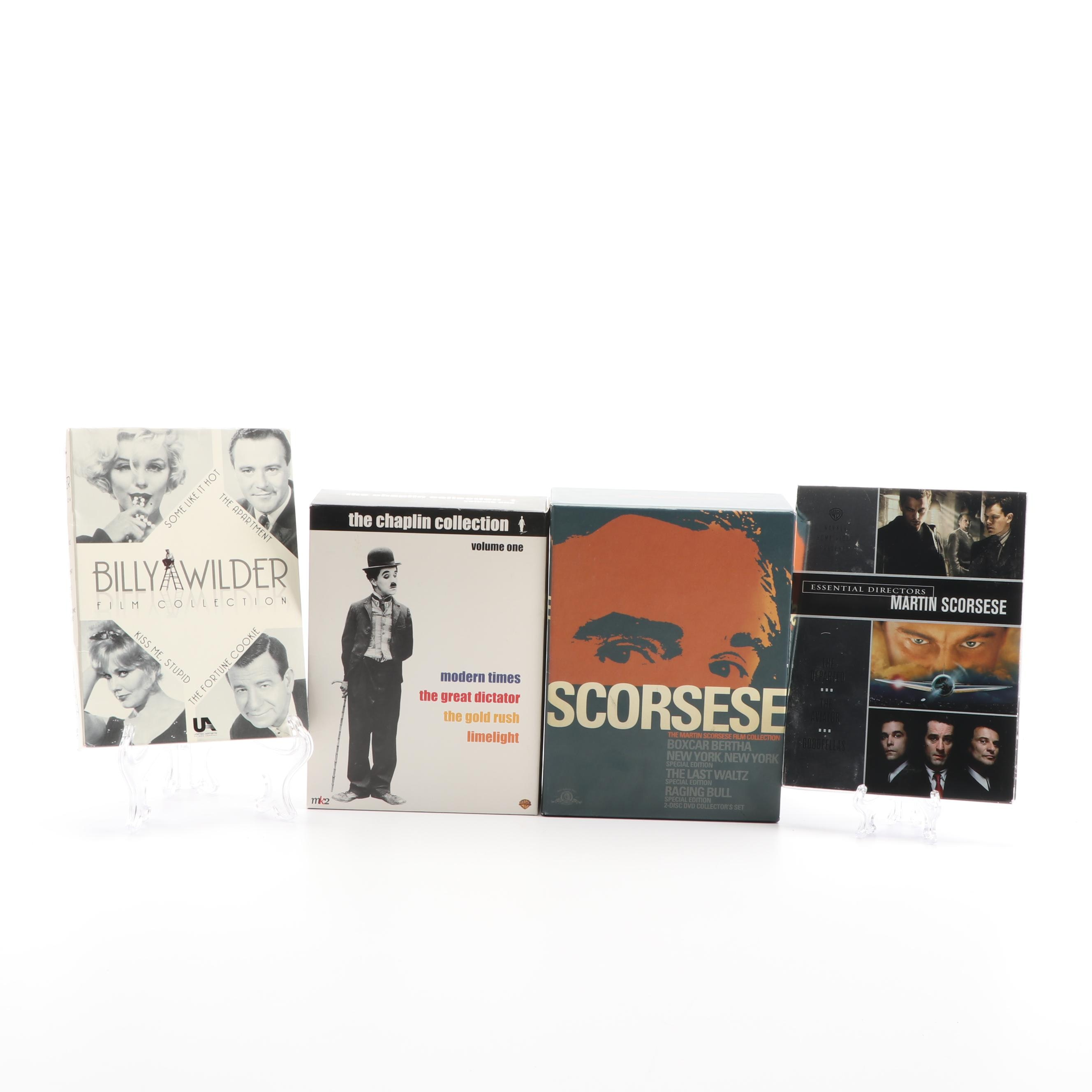 DVD Box Set Collections including Martin Scorsese and Charlie Chaplin