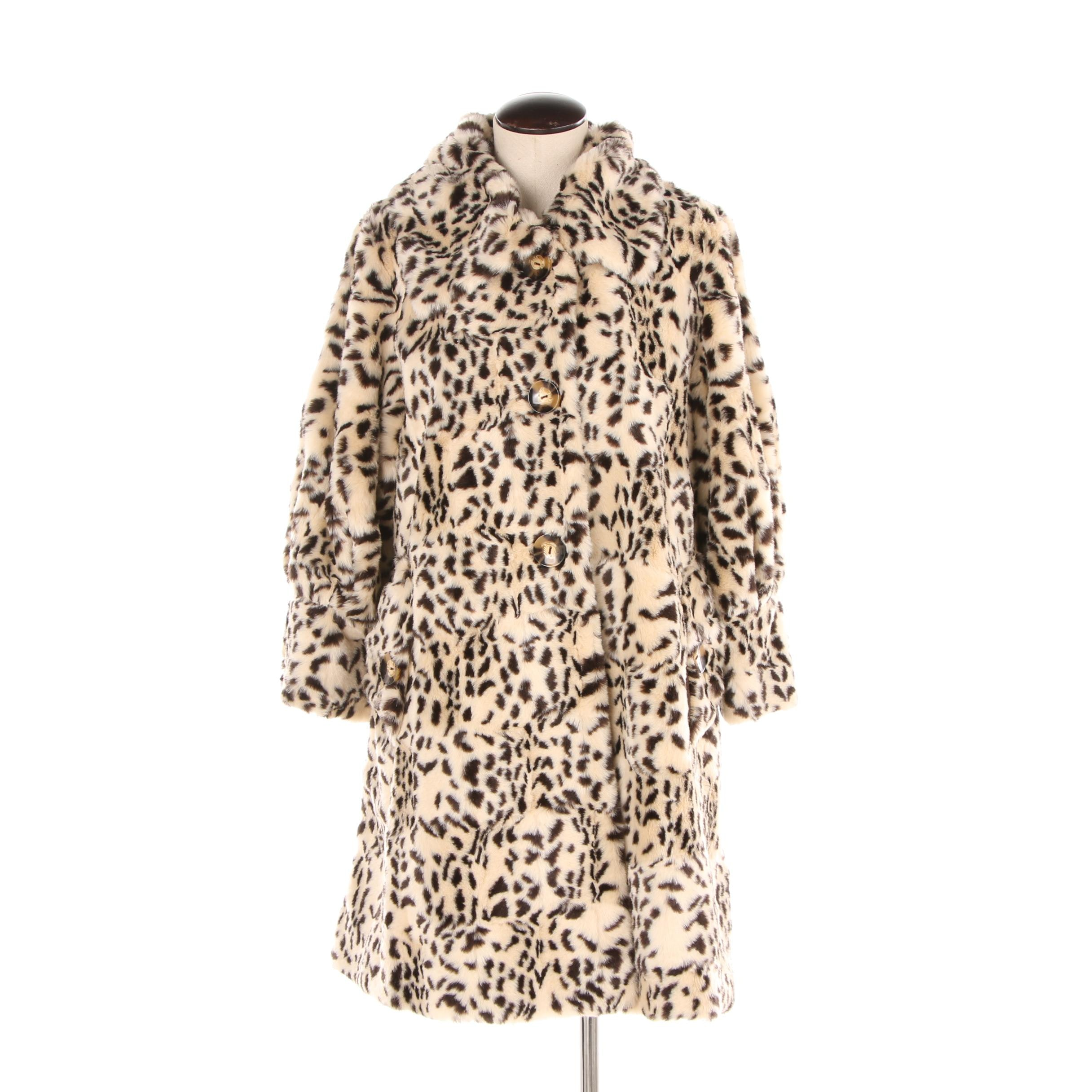 Women's Boston Proper Cheetah Print Faux Fur Coat