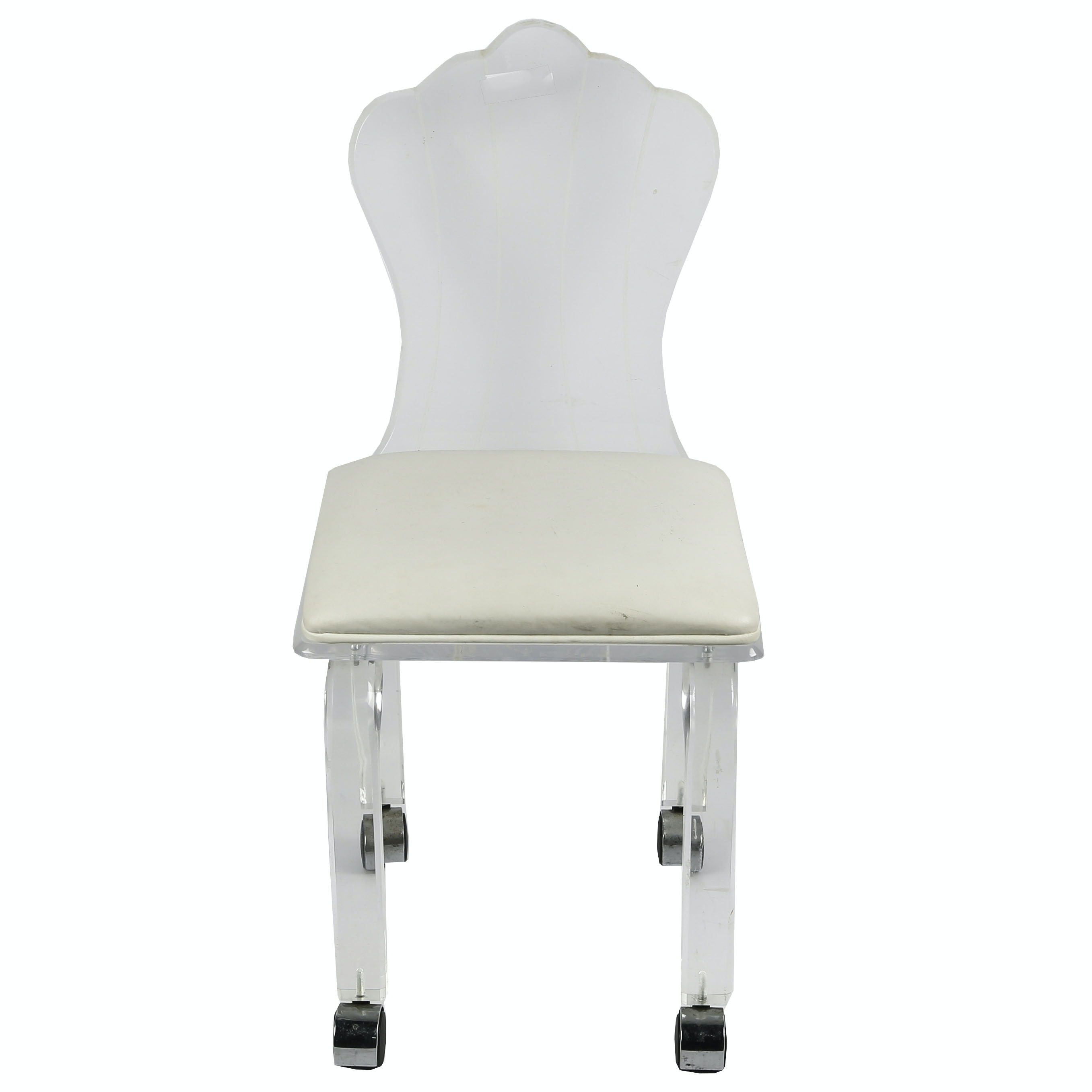 Contemporary Acrylic Chair on Casters