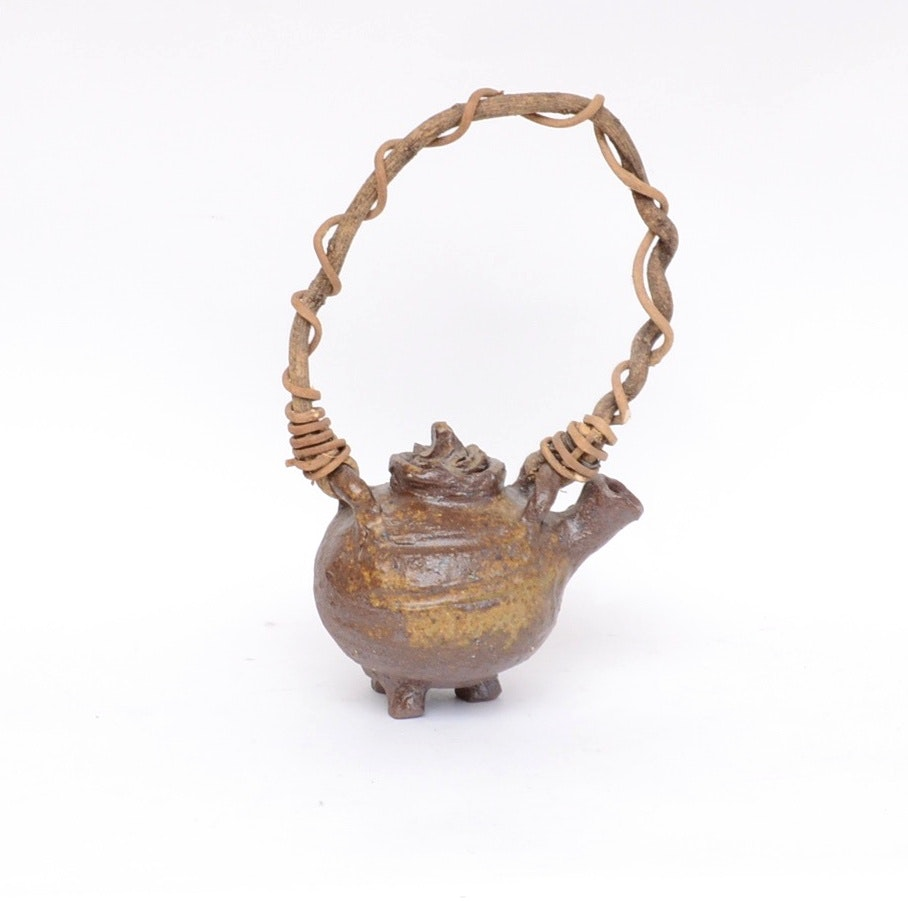 Hand-Crafted Japanese Pottery Teapot