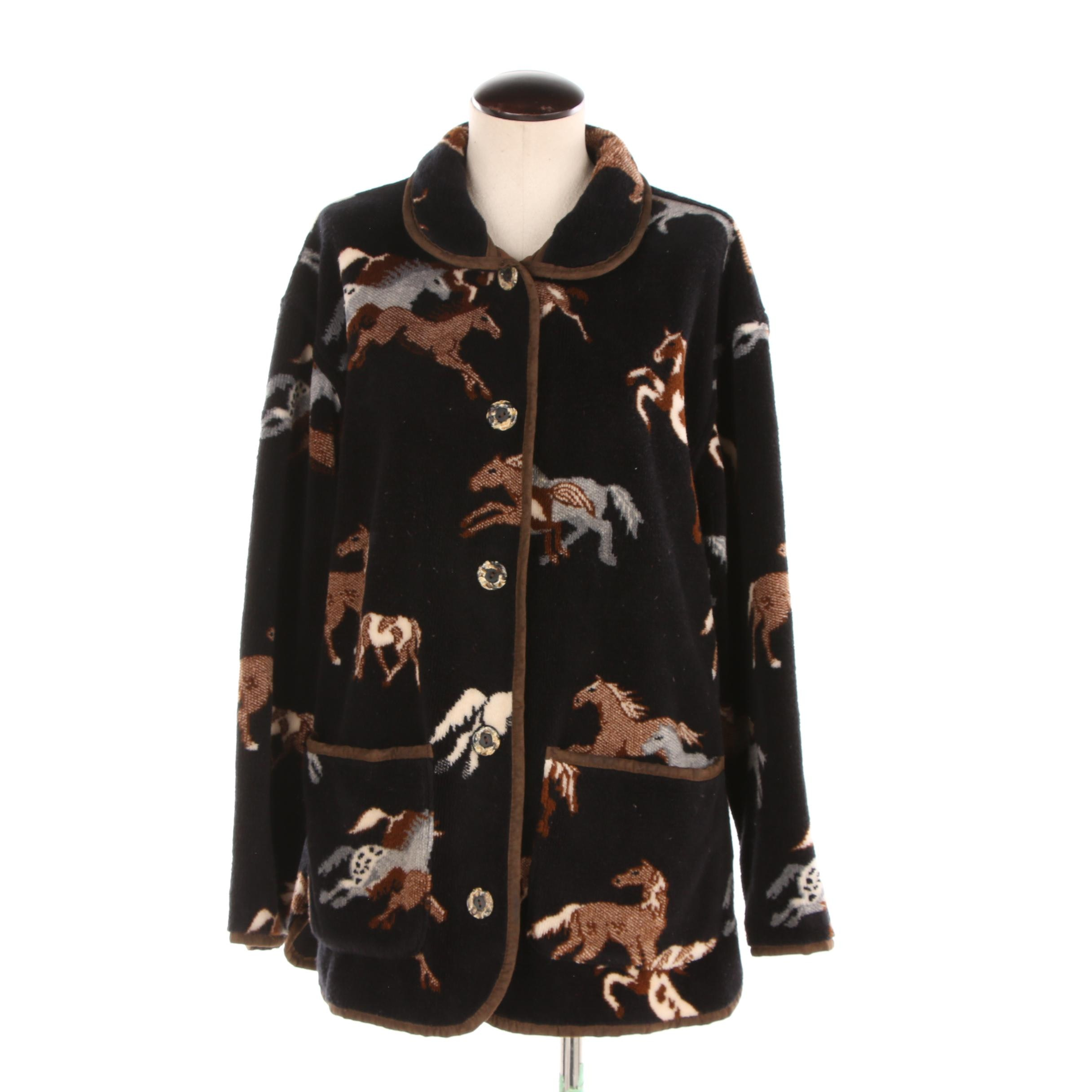 Women's Indigenous Tsunami Collection Horse Print Jacket