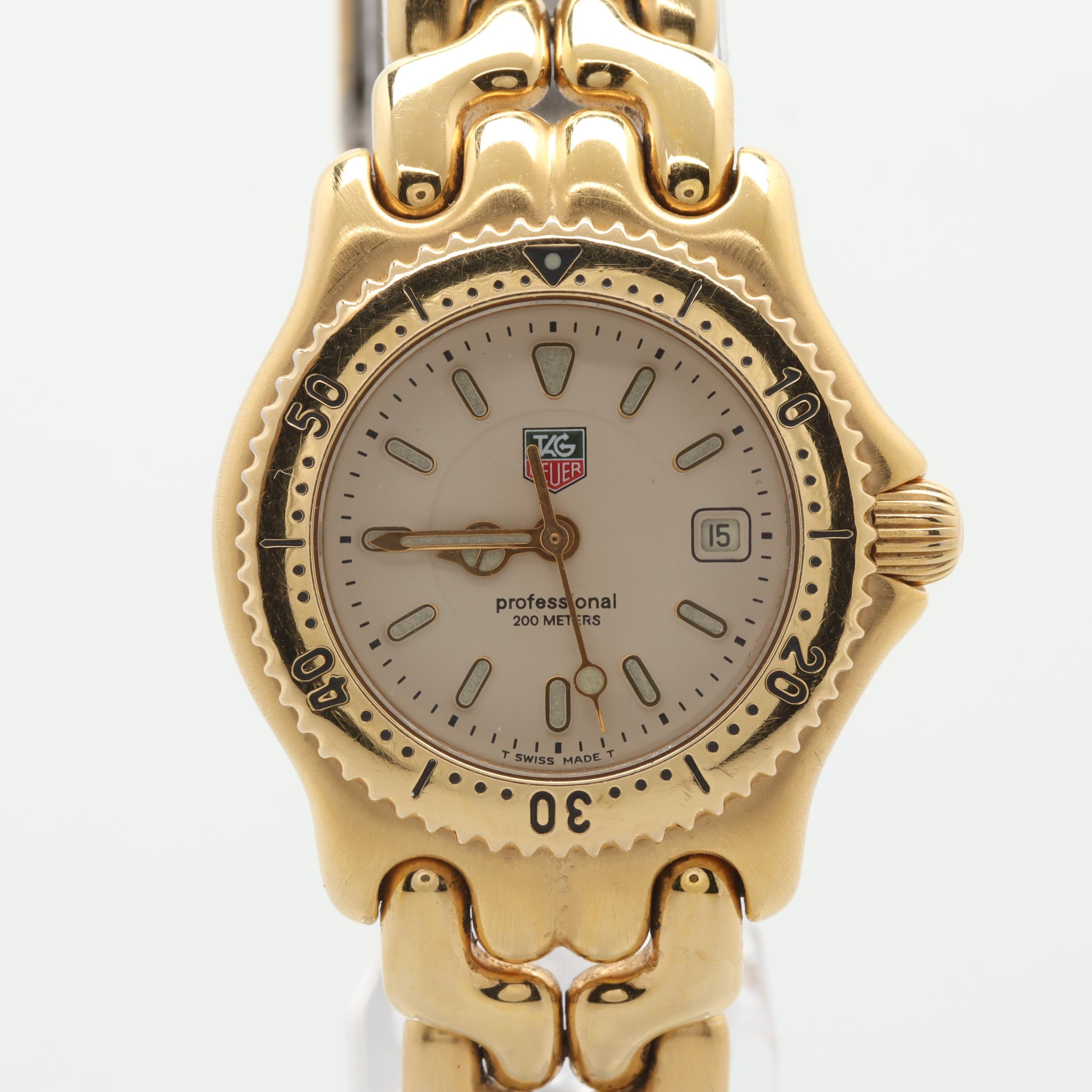 "TAG Heuer ""Sports Elegance"" Gold Tone Stainless Steel Wristwatch"