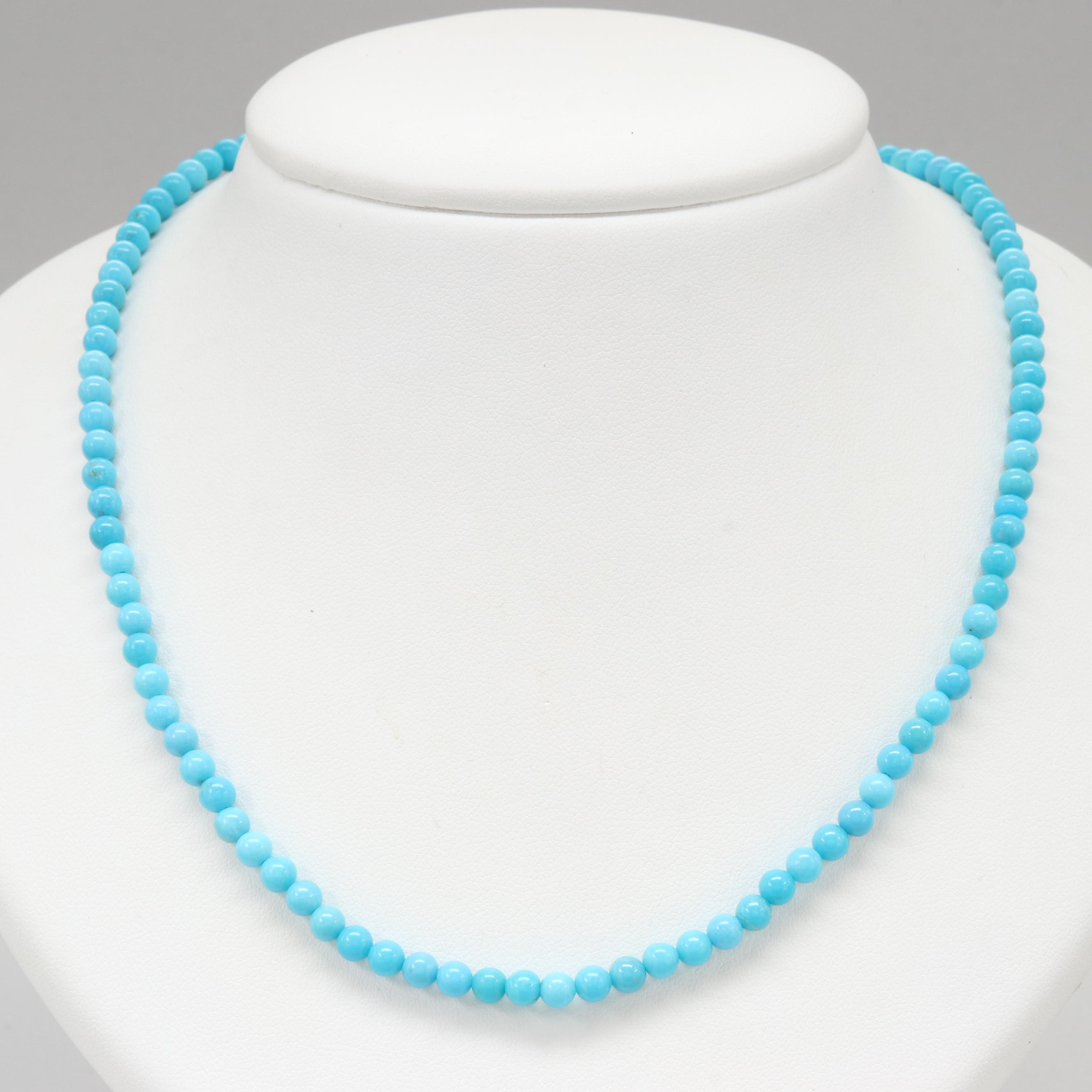 10K Yellow Gold Turquoise Necklace