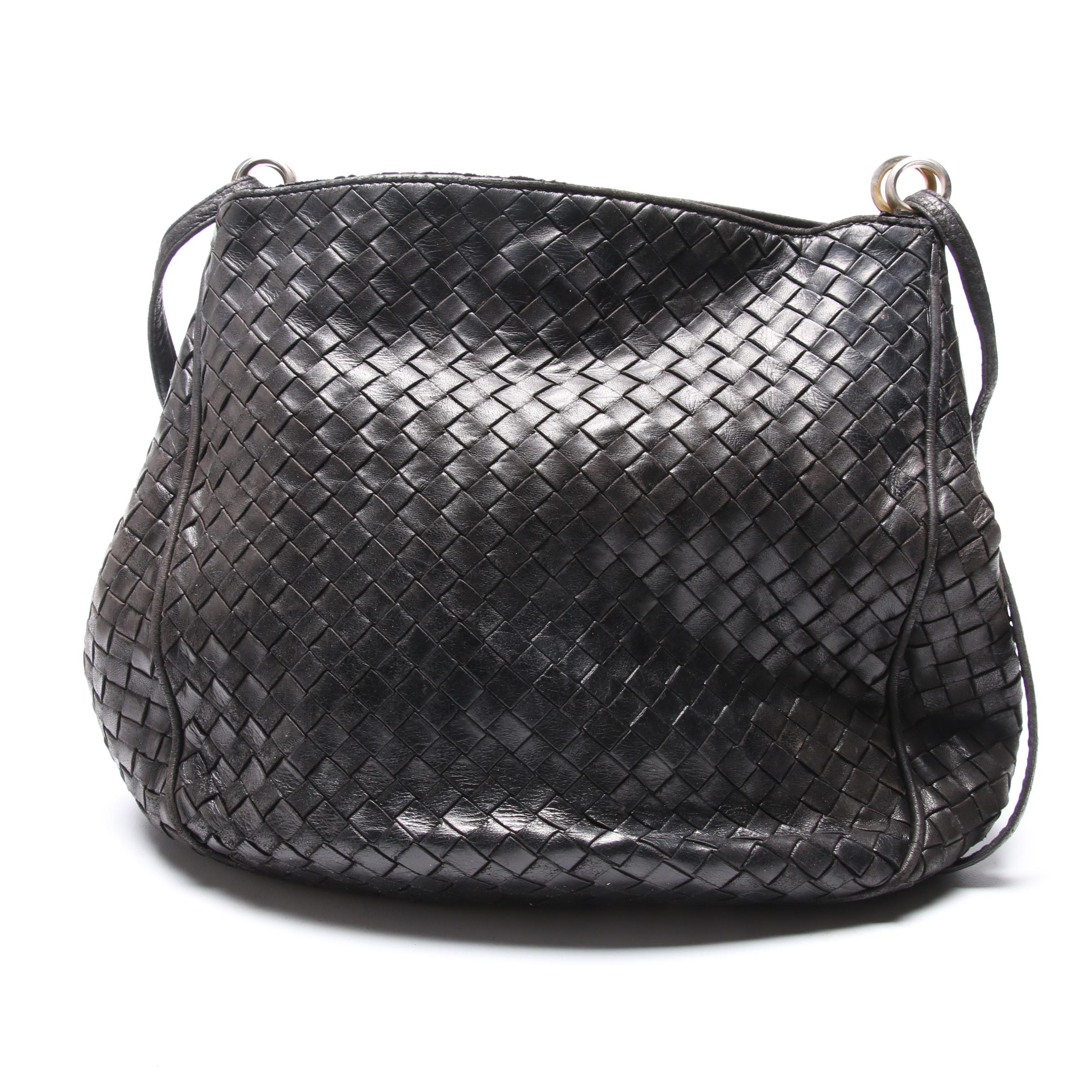 Bottega Veneta Intrecciato Woven Leather Handbag