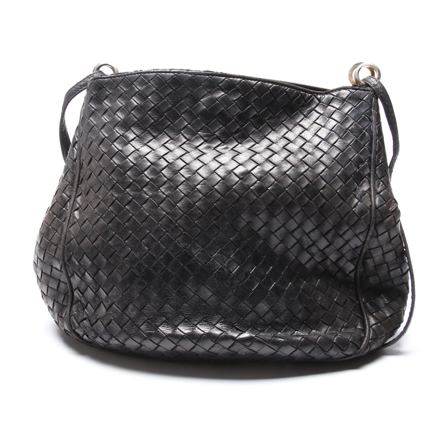 Bottega Veneta Intrecciato Woven Leather Handbag   EBTH 011ff824dde85