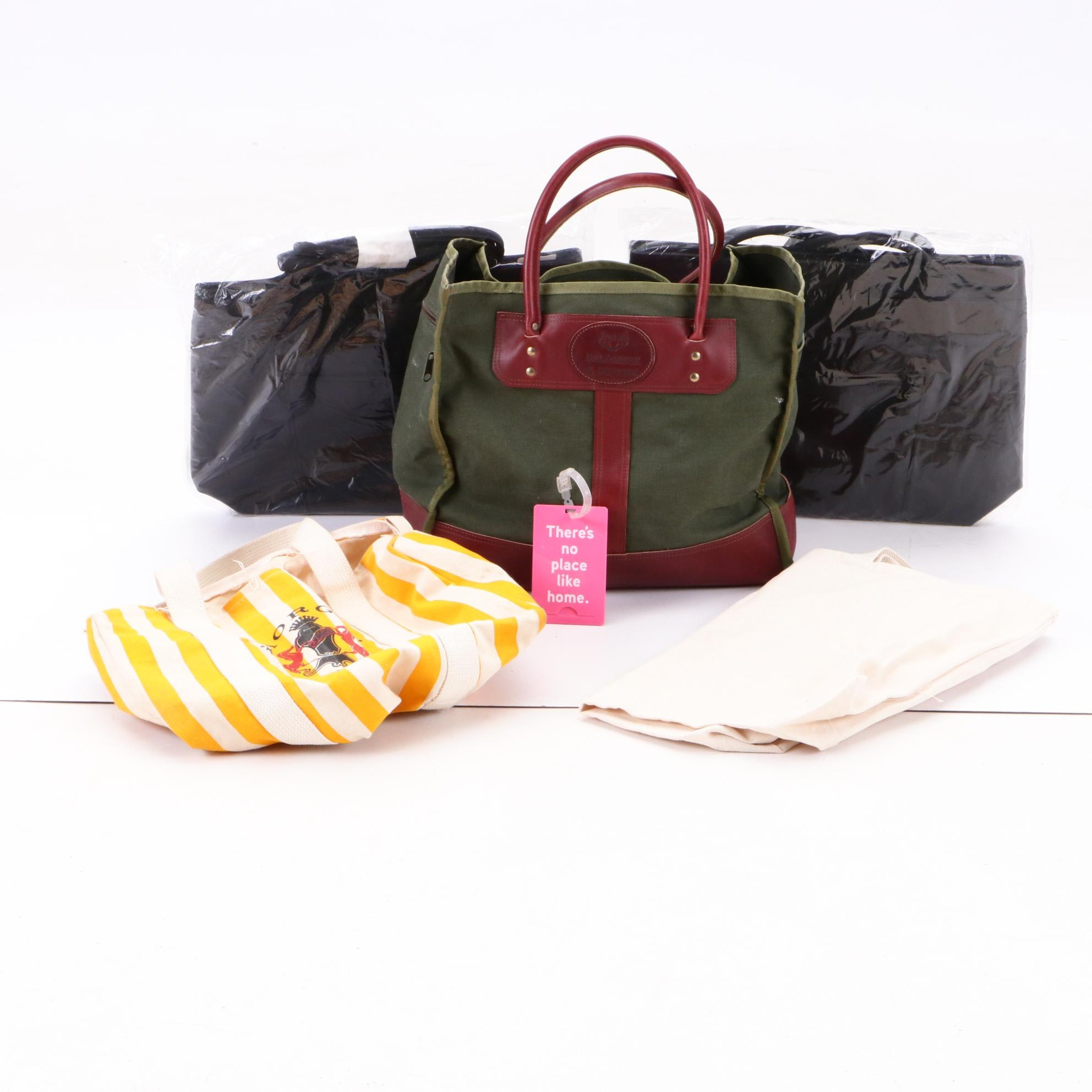 Delamere & Hopkins Canvas and Leather Tote and Other Bags