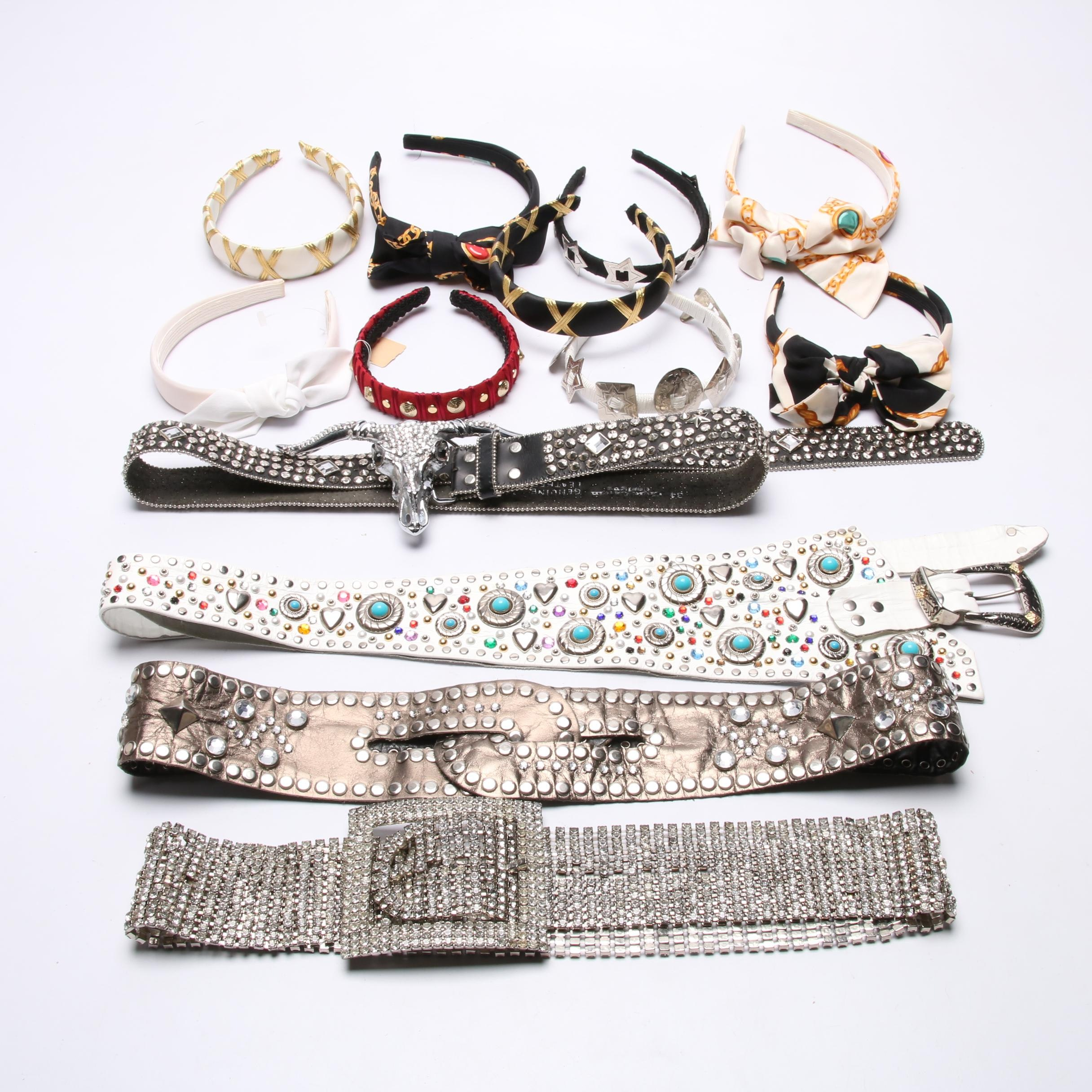 Deborah Rhodes, Espy, Colette Malouf Headbands and Leather Jewel Accented Belts