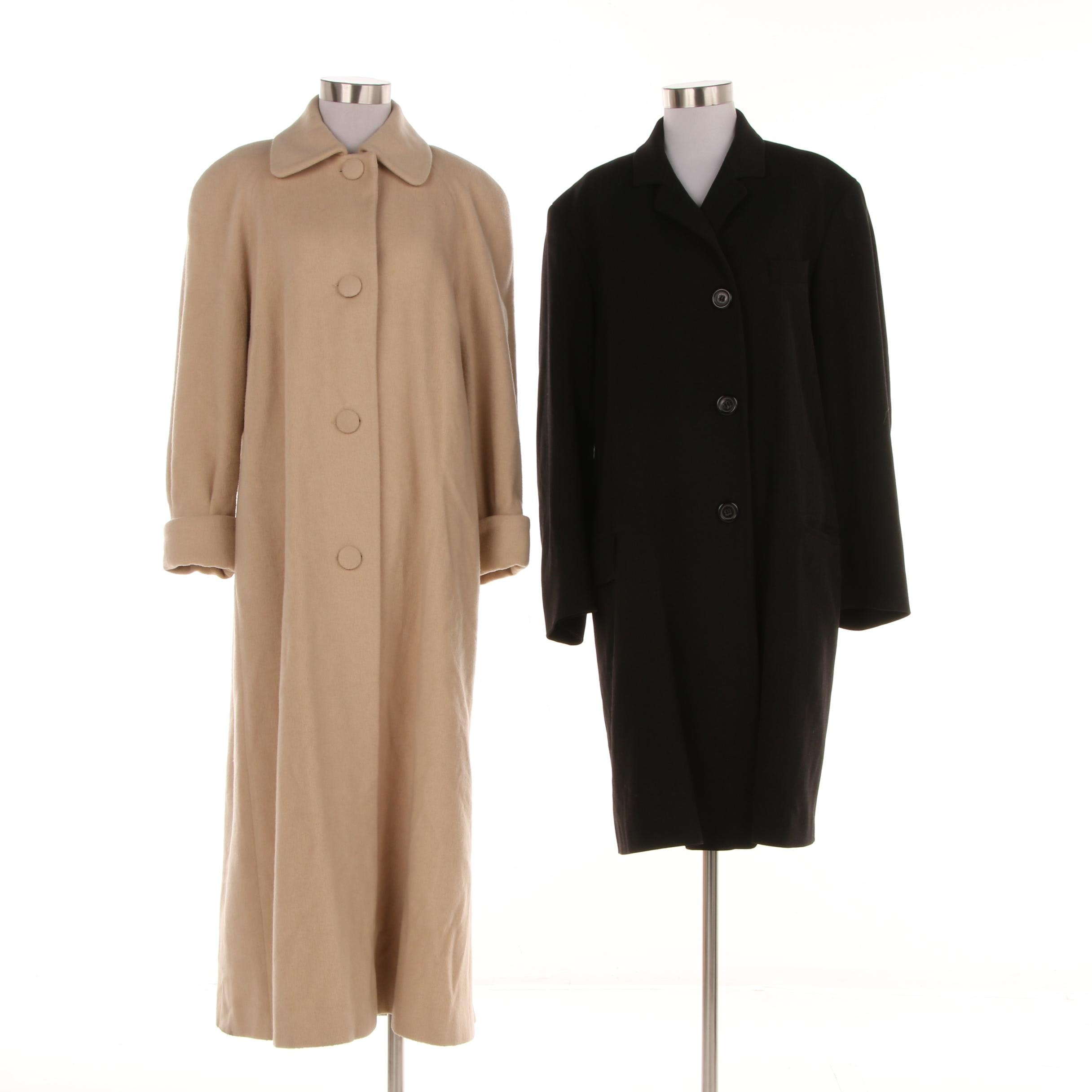 Women's H Halston and Jil Sander Wool Blend Coats