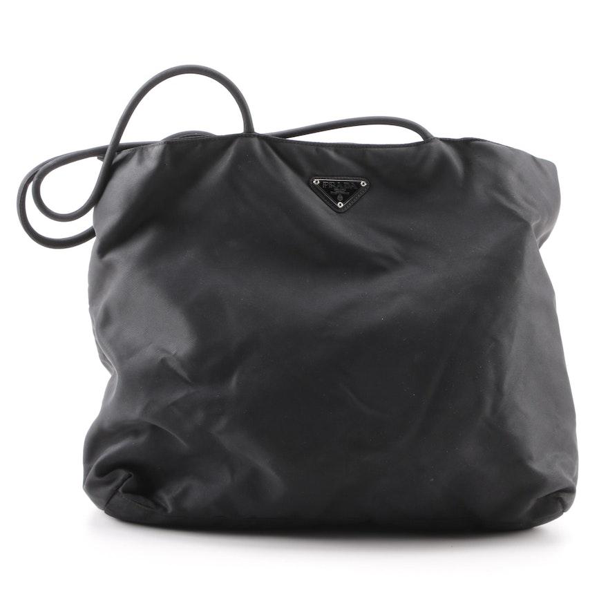 4a5ec6df2620 Prada Black Nylon Tote Bag : EBTH