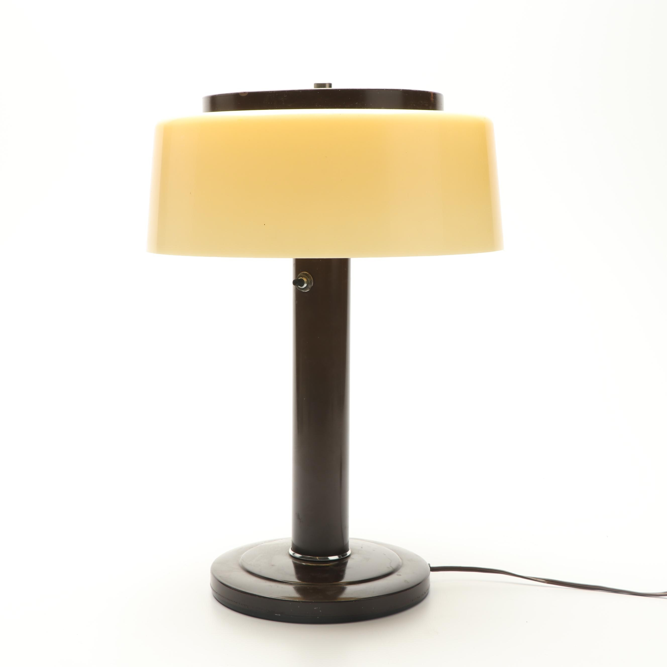 Mid Century Modern Table Lamp with Mobilite Shade