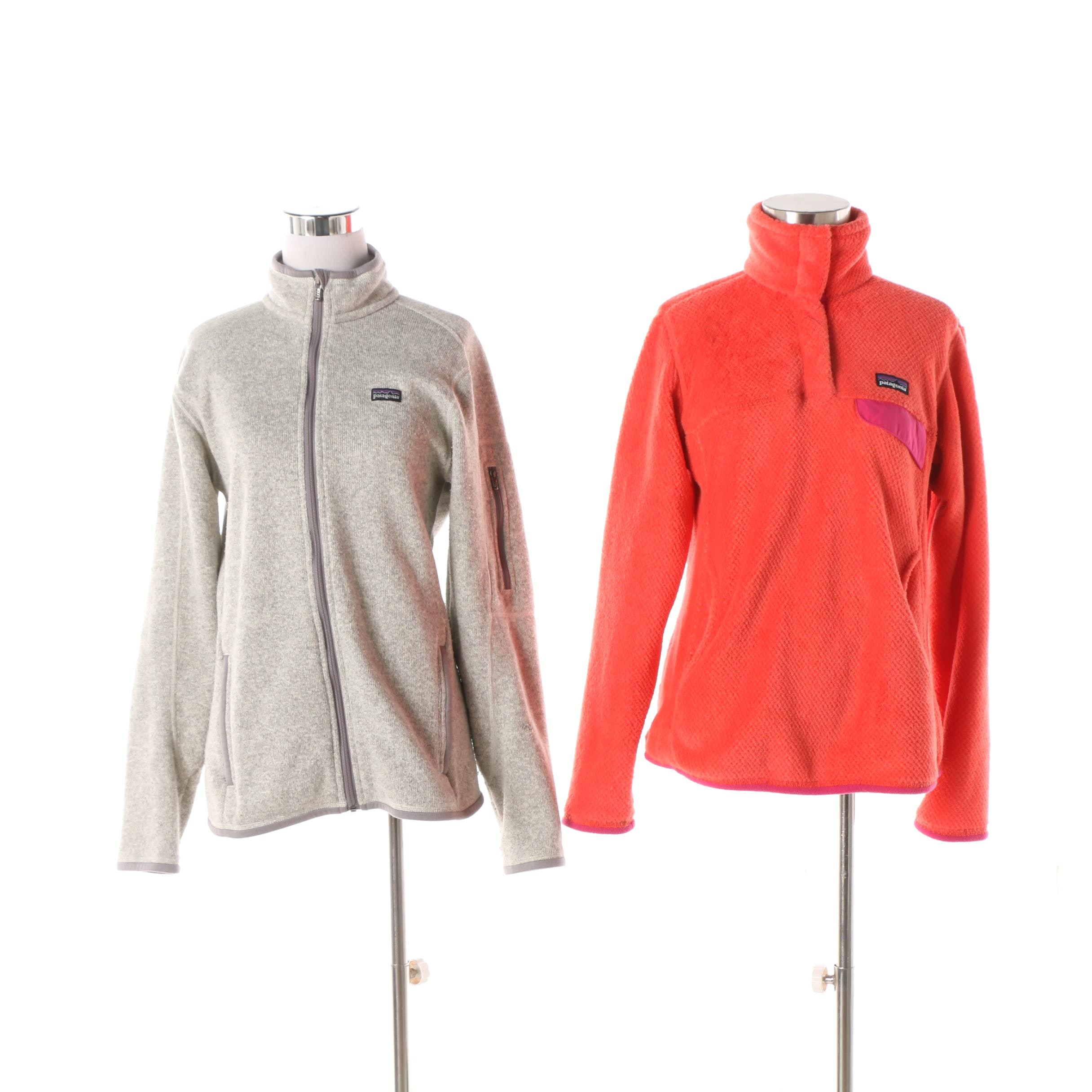 Women's Patagonia Grey Fleece Jacket and Orange Pullover