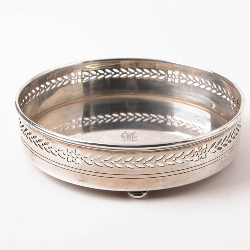 Tiffany & Co. Sterling Silver Footed Wine Coaster