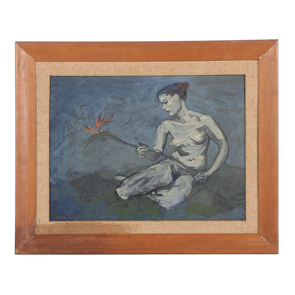 Emlen Etting, Jr. Mid Century Oil Painting on Board