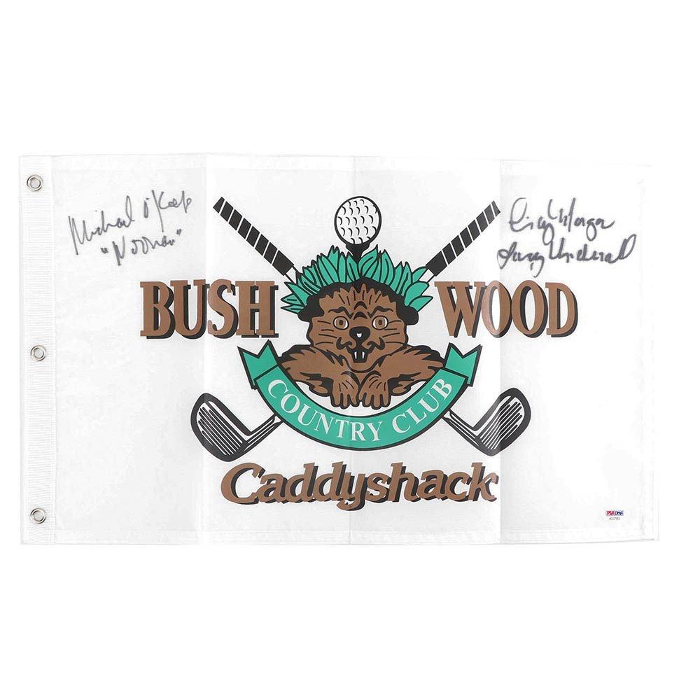 "Michael O'Keefe and Cindy Morgan Autographed ""Caddyshack"" Flag - PSA/DNA COA"