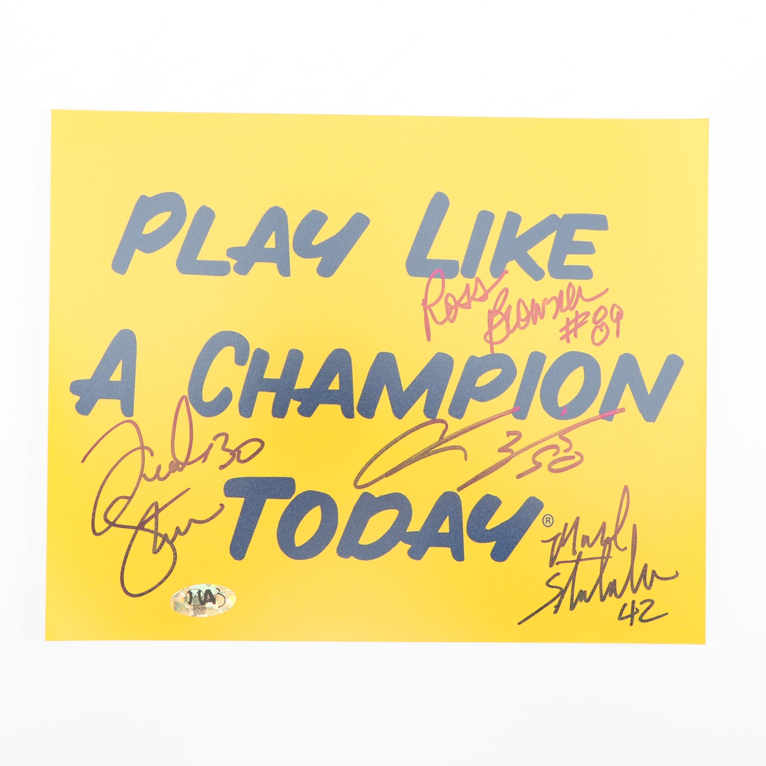 """Autographed """"Play Like A Champion Today"""" Notre Dame Football Poster"""