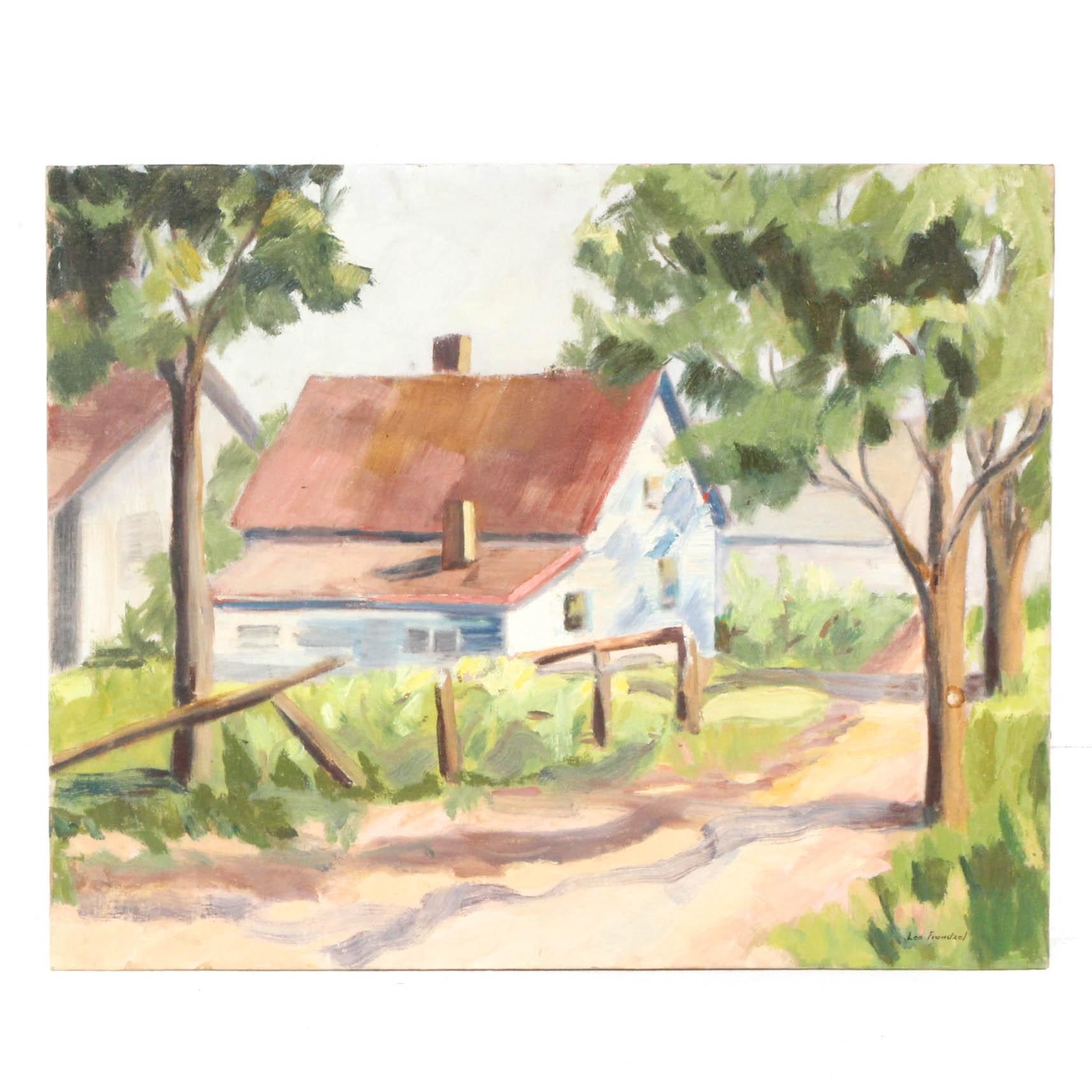 Edrie Leah Frandzel Farmhouse Oil Landscape