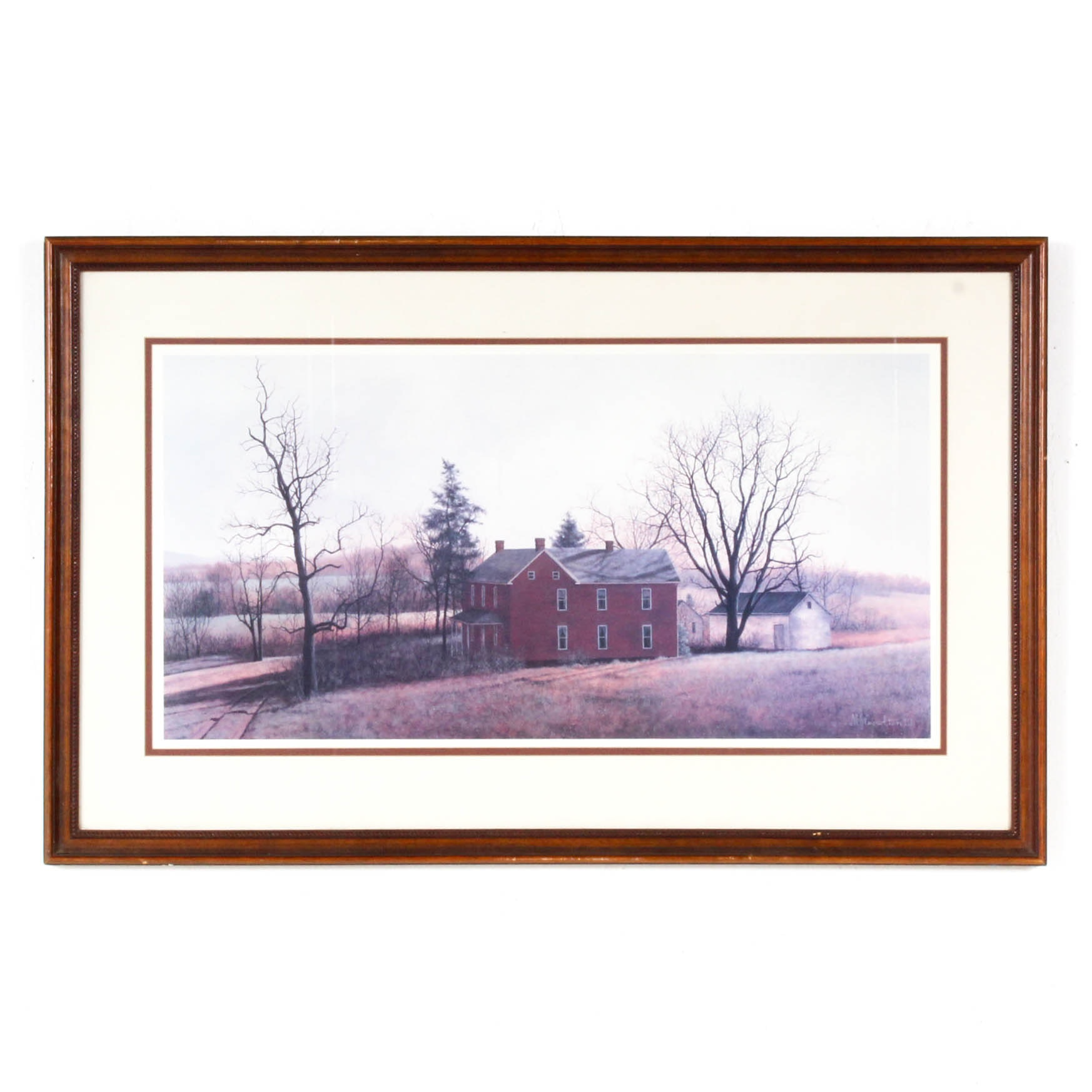 """David Knowlton Limited Edition Offset Lithograph """"Long Shadows"""""""