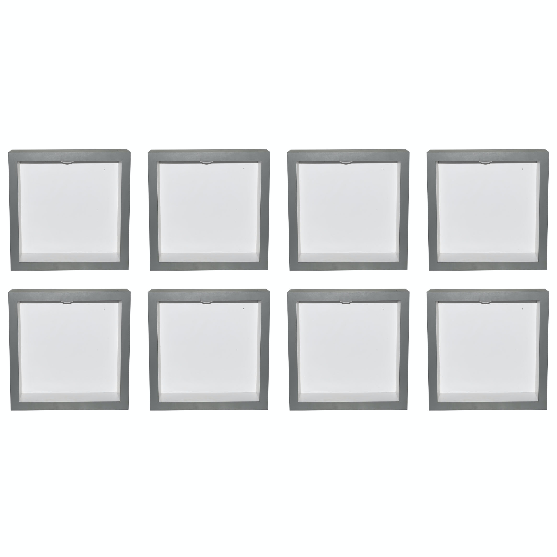 Gray Laminate Display Cubes