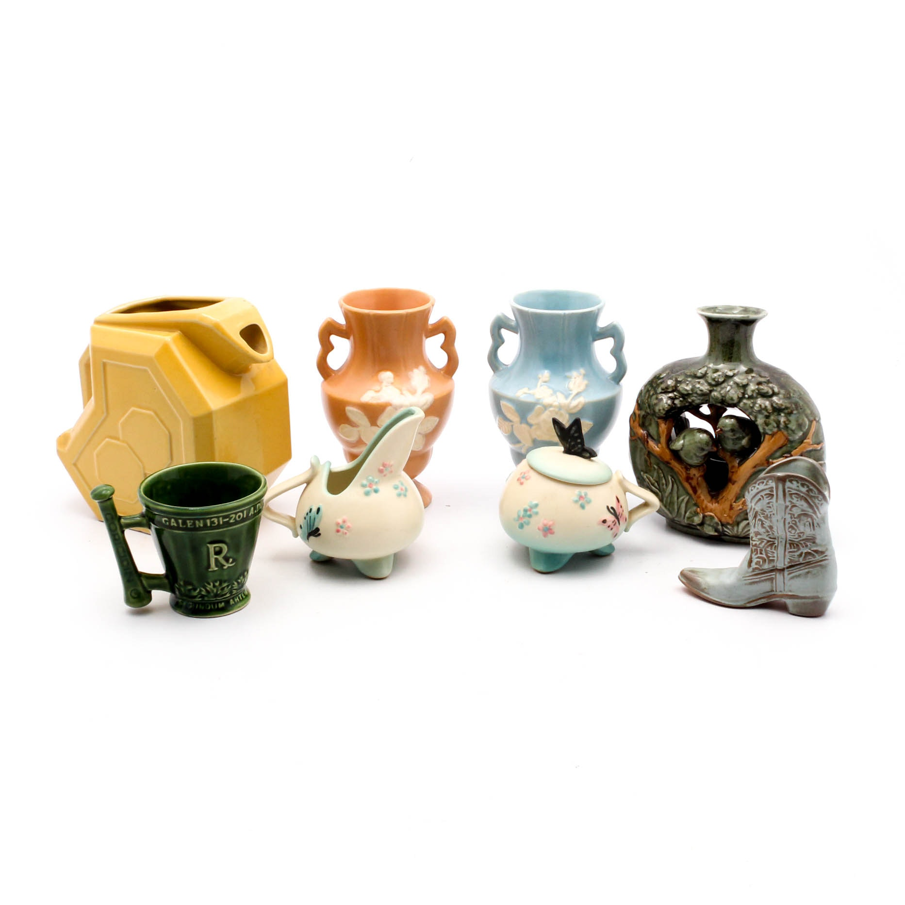 Decorative Art Pottery With Weller and Hull