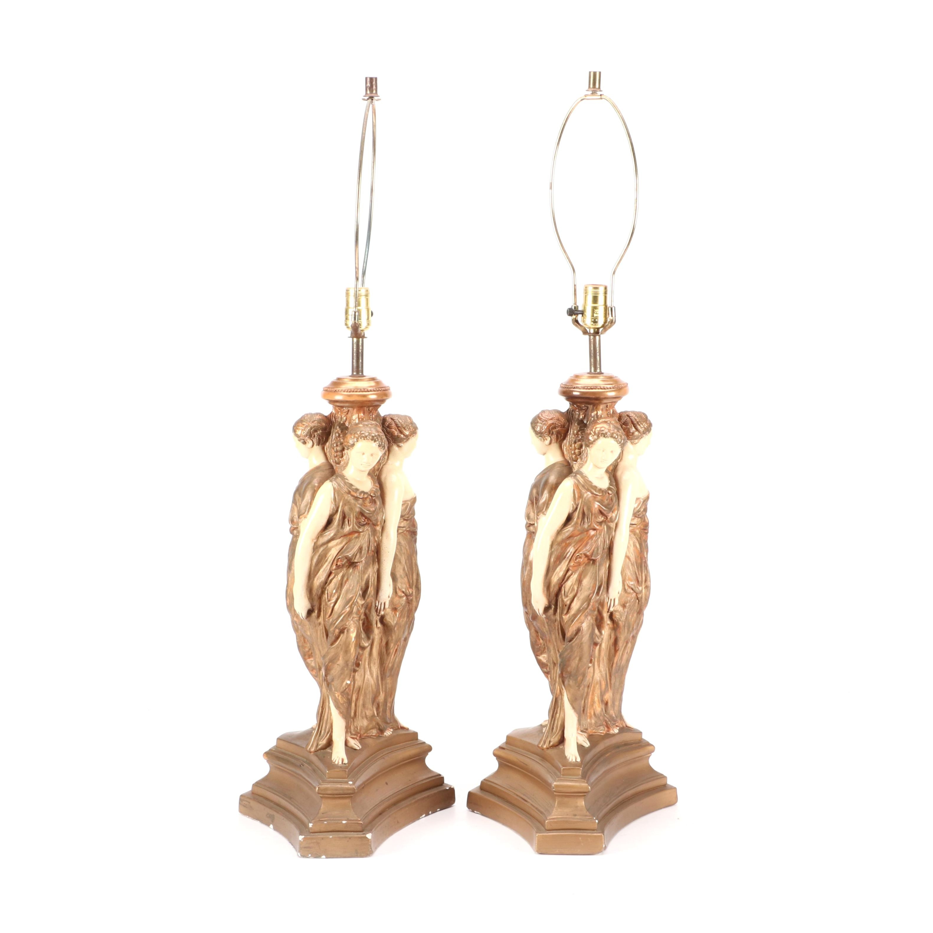 Quartite Creative Corporation Figural Table Lamps