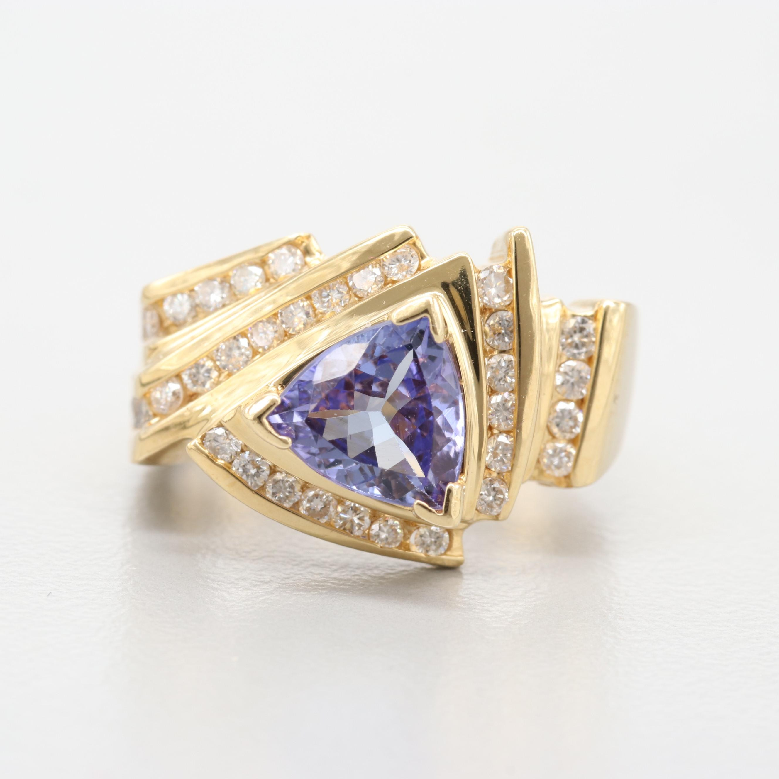 Le Vian 18K Yellow Gold Tanzanite and Diamond Ring