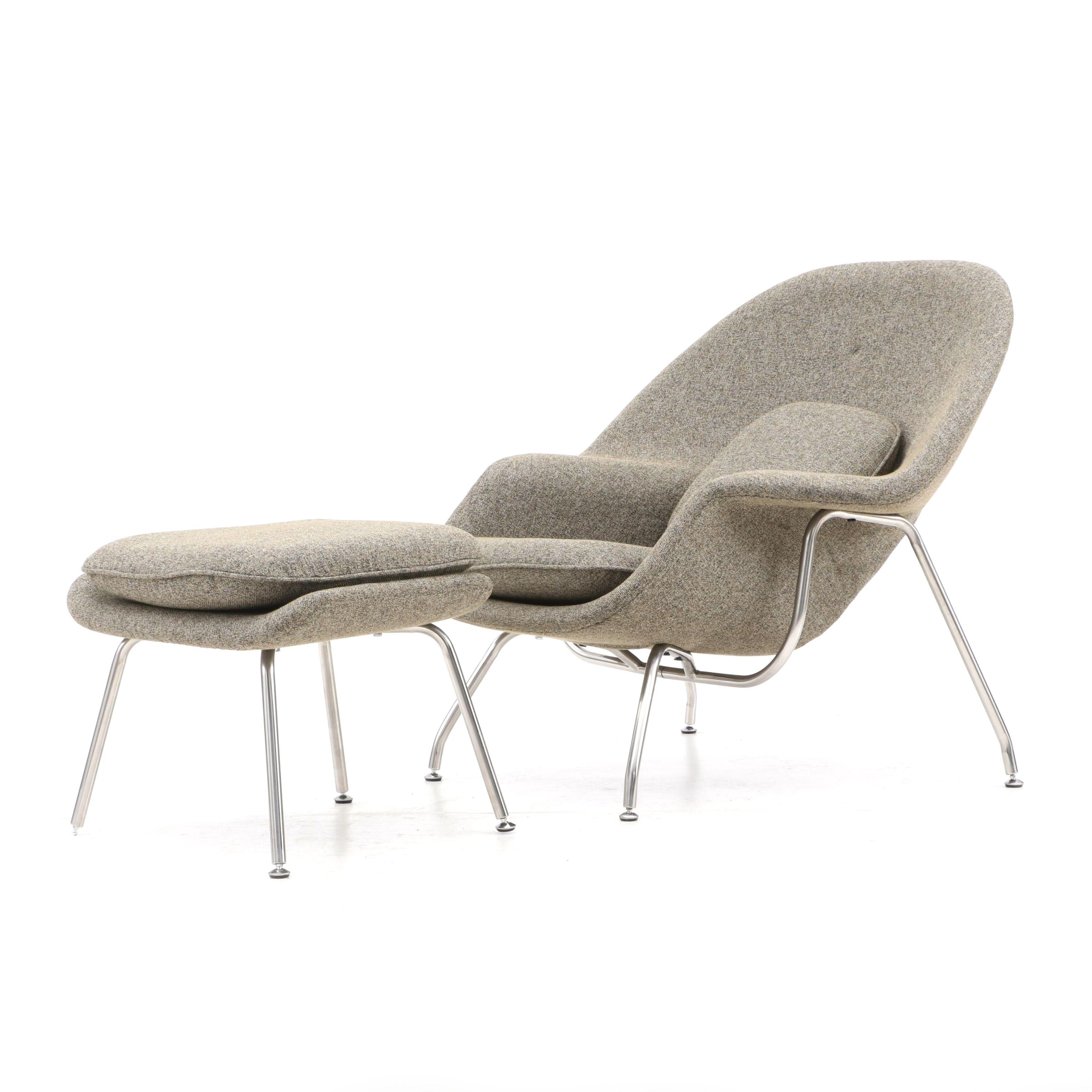 Eero Saarinen Style Womb Chair and Ottoman