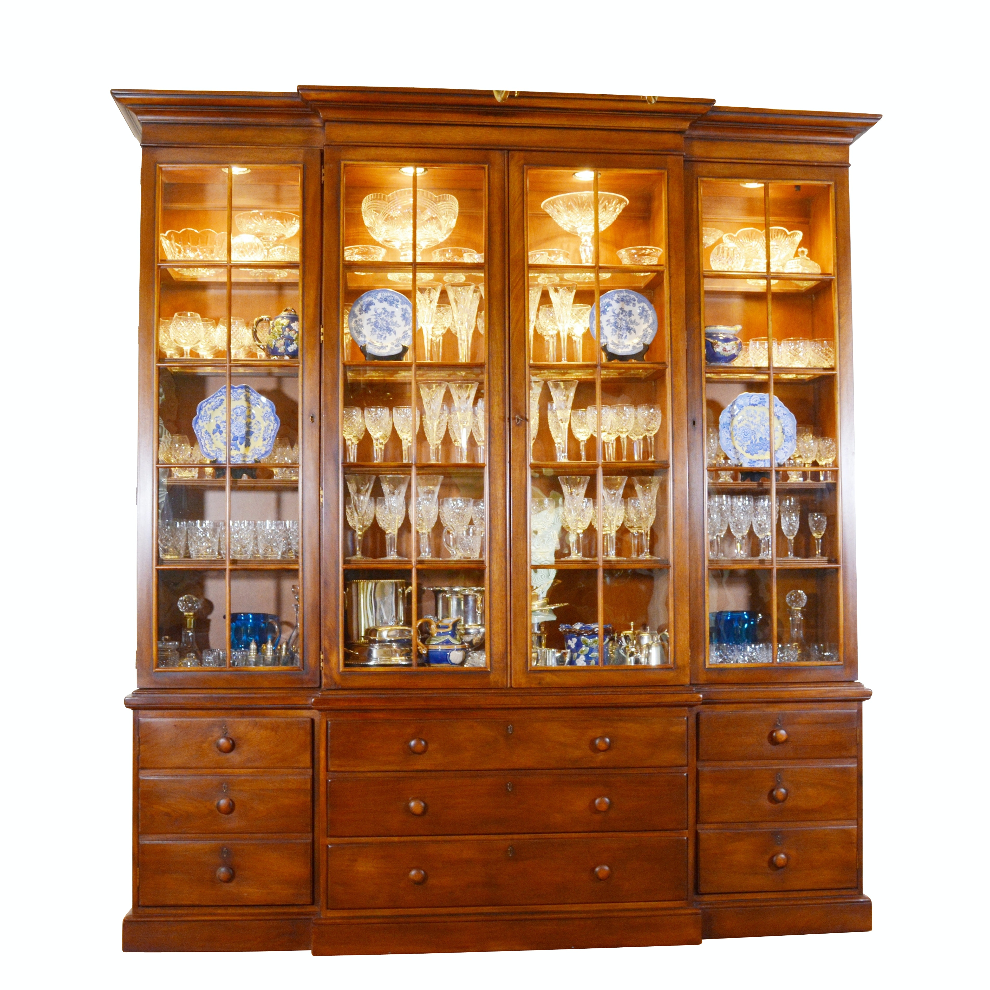 Contemporary Breakfront China Cabinet by Henredon Registry, First Edition, No 12