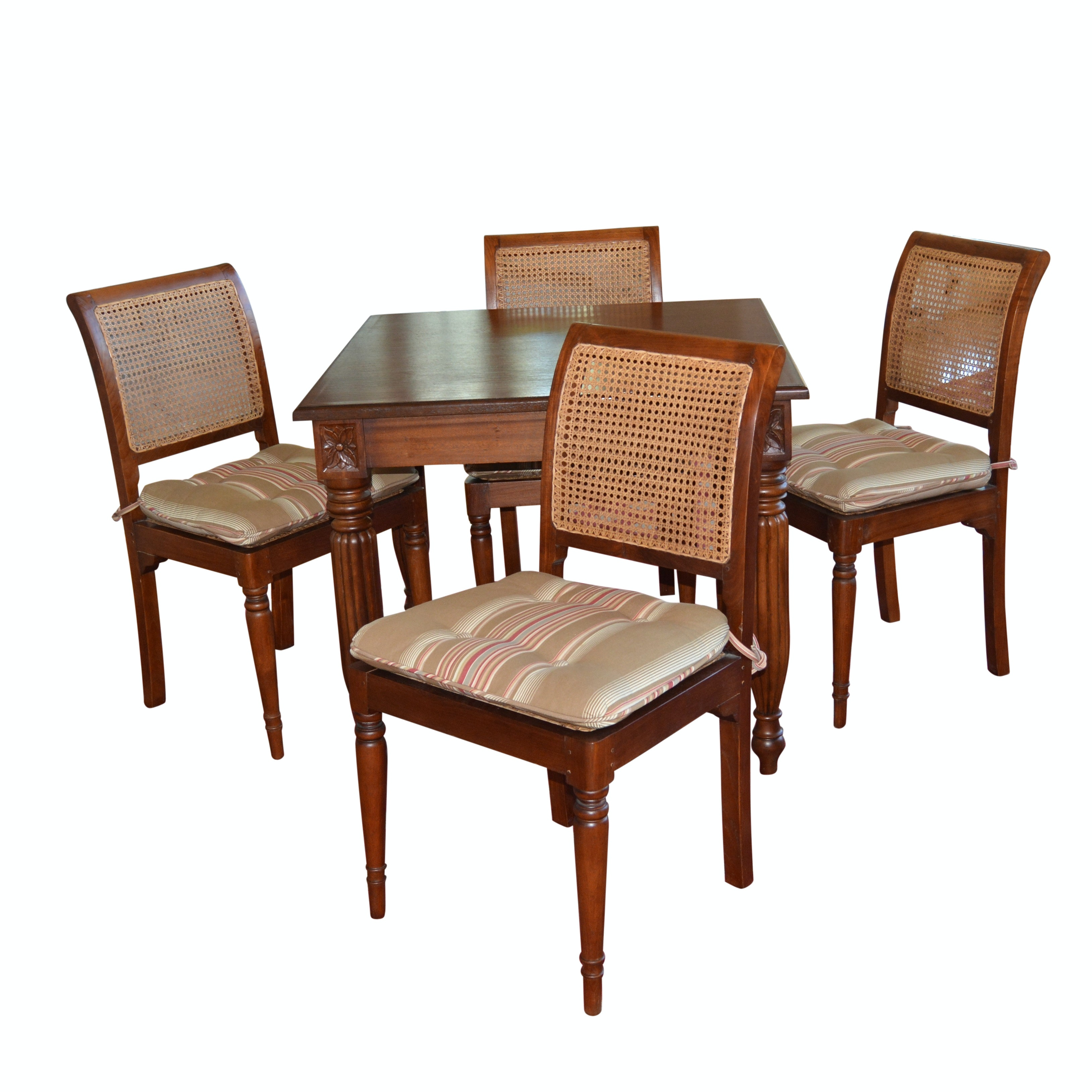 Federal Style Dining/Game Table and Cane Chairs by Mandalay, 21st Century