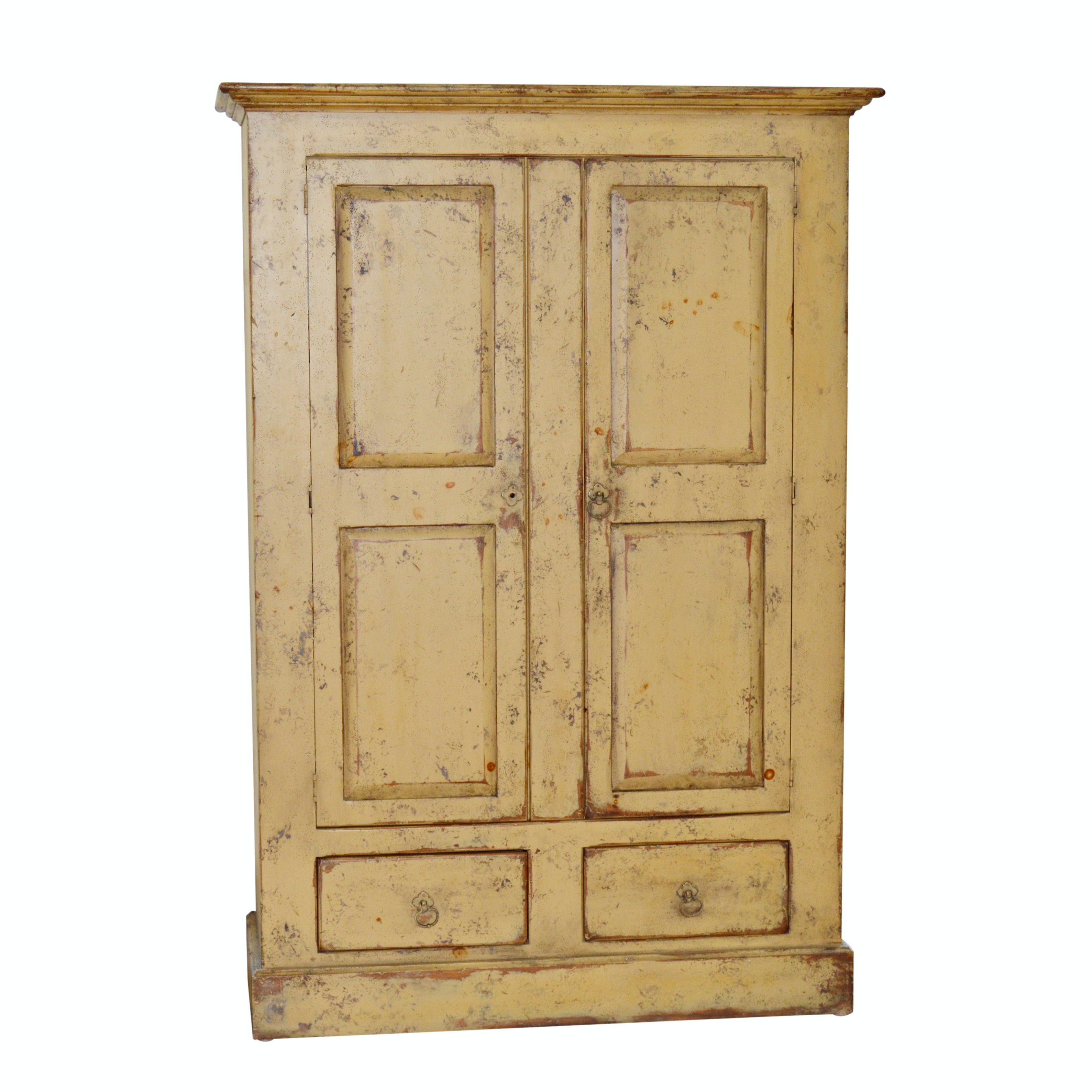 Distressed Painted Wood Cabinet by Habersham Plantation, 21st Century