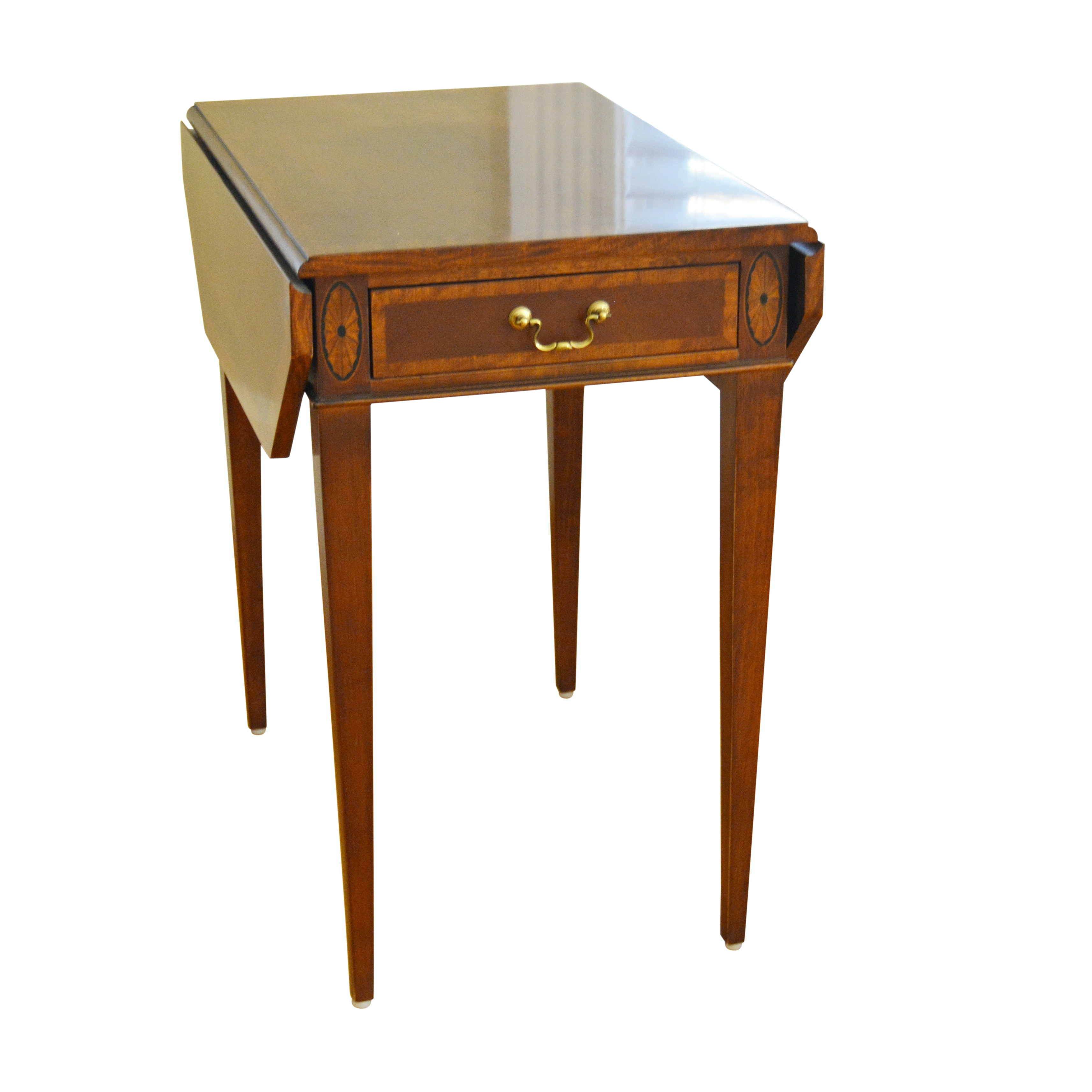 Federal Style Mahogany Pembroke Side Table by Henredon, Late 20th Century