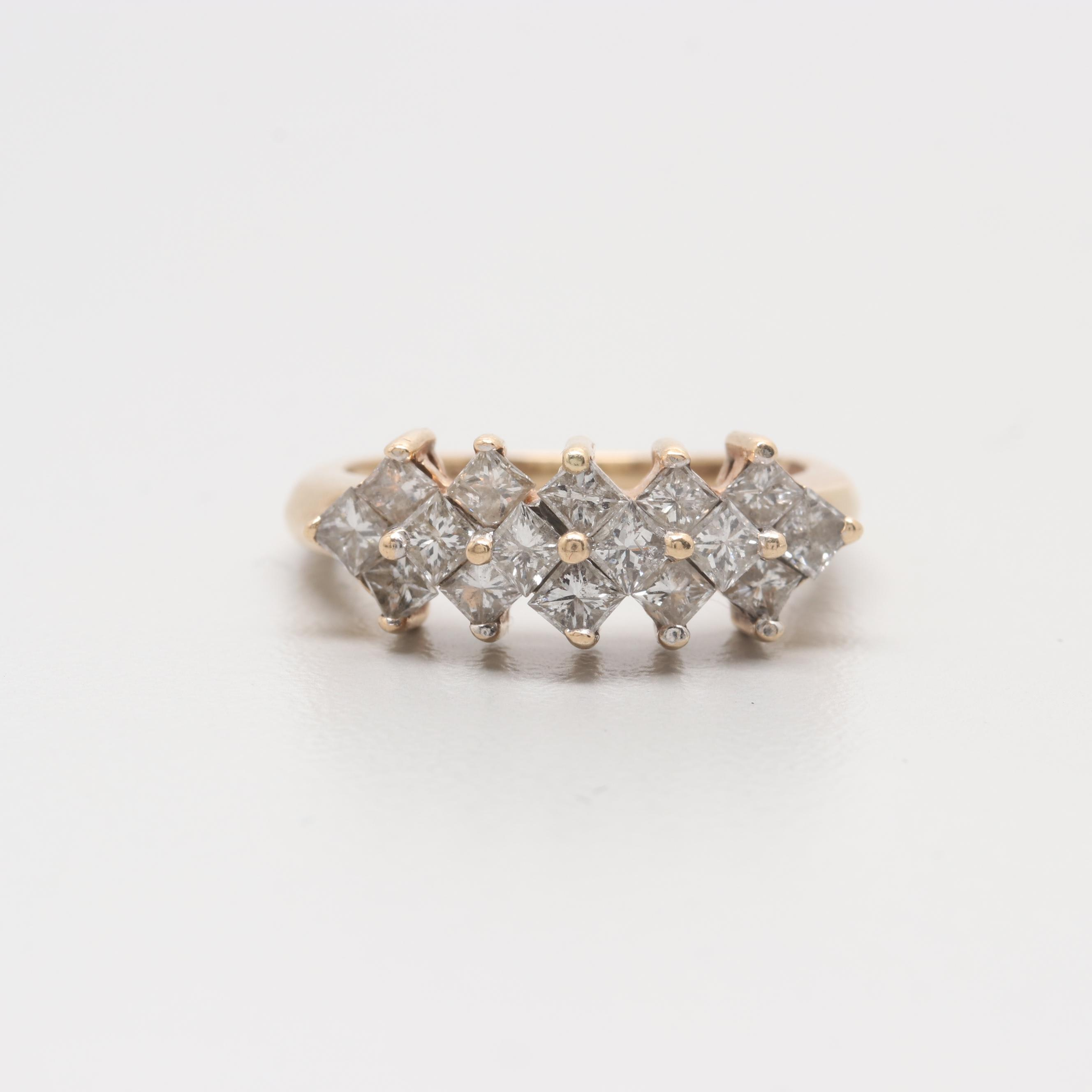 14K Yellow Gold 1.01 CTW Diamond Ring