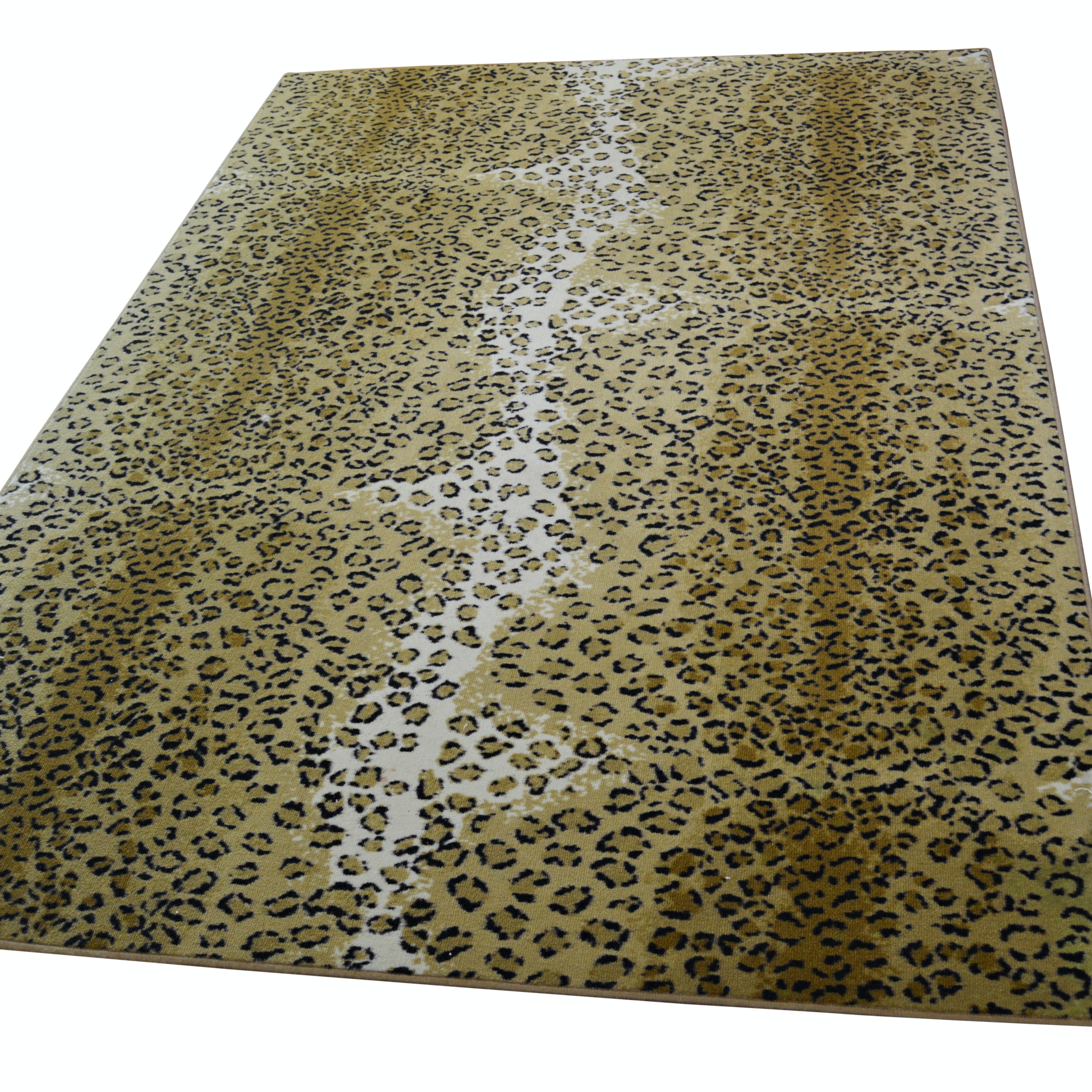 Machine Made Synthetic Cheetah Design Area Rug